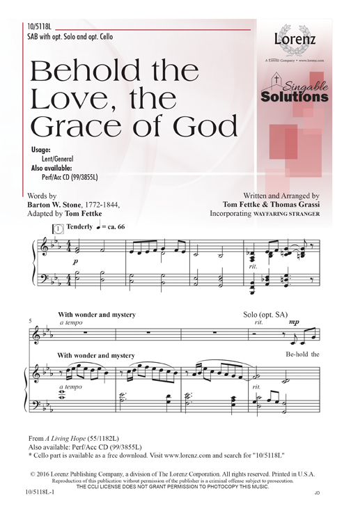 Behold the Love, the Grace of God