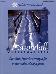 Snowfall Christmas Jazz Bass Clef Inst