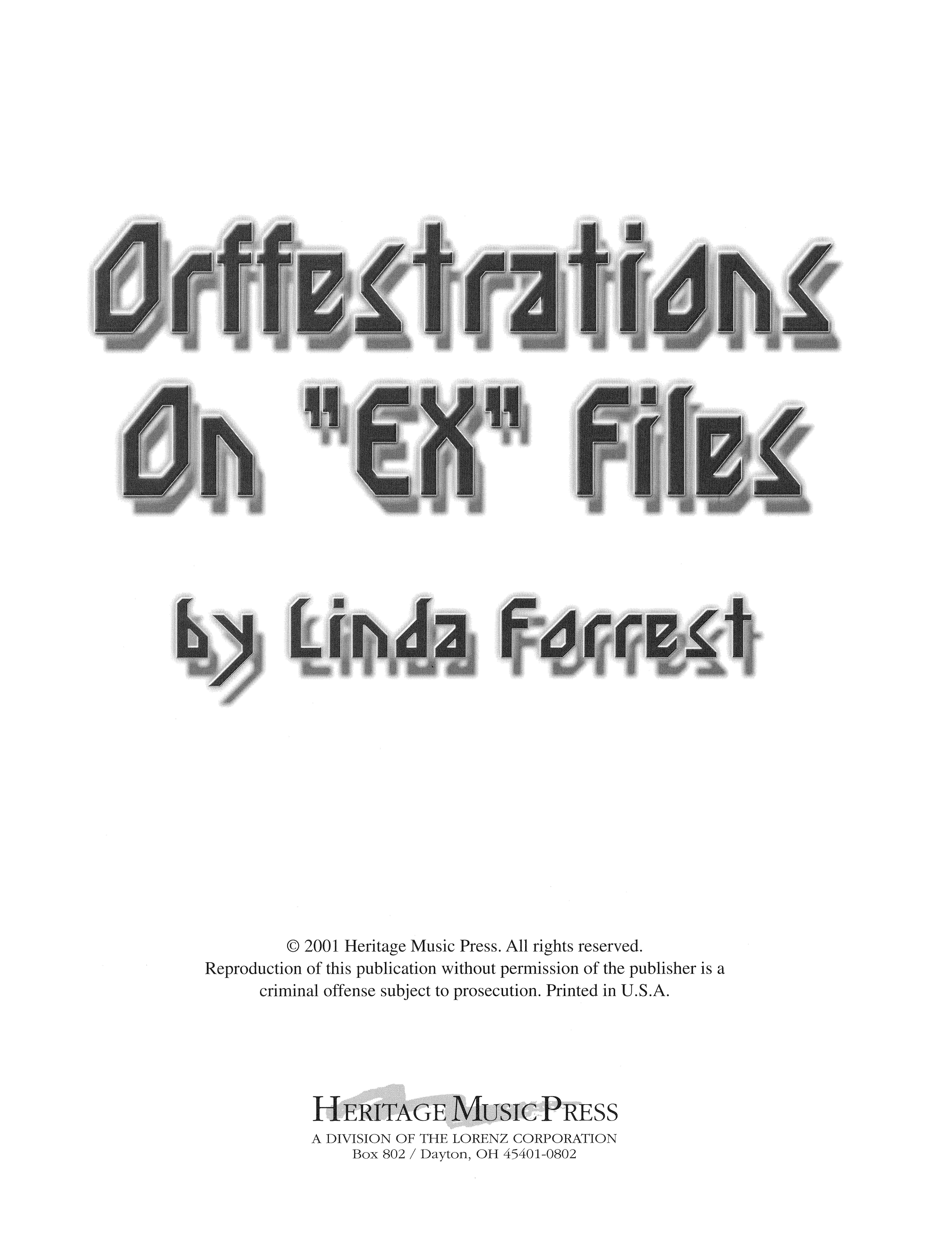 Orffestrations on EX Files