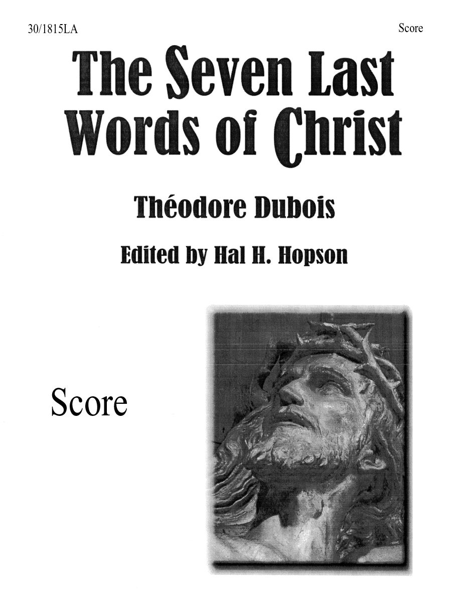 The Seven Last Words of Christ - Conductor's Score