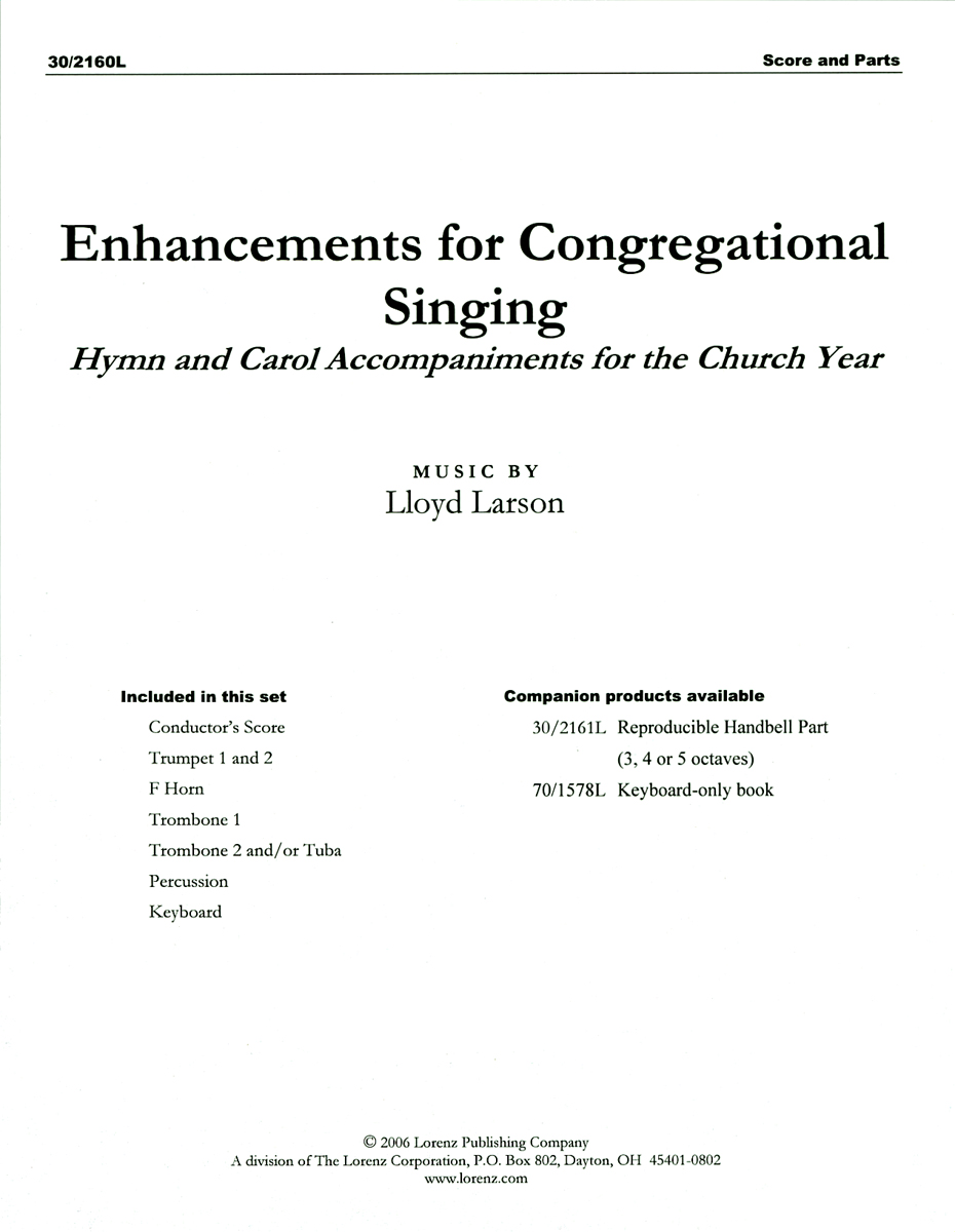 Enhancements for Congregational Singing - Brass and Perc. Score and Parts