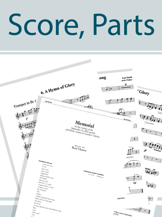 Angels Sing Gloria Percussion Score and Parts
