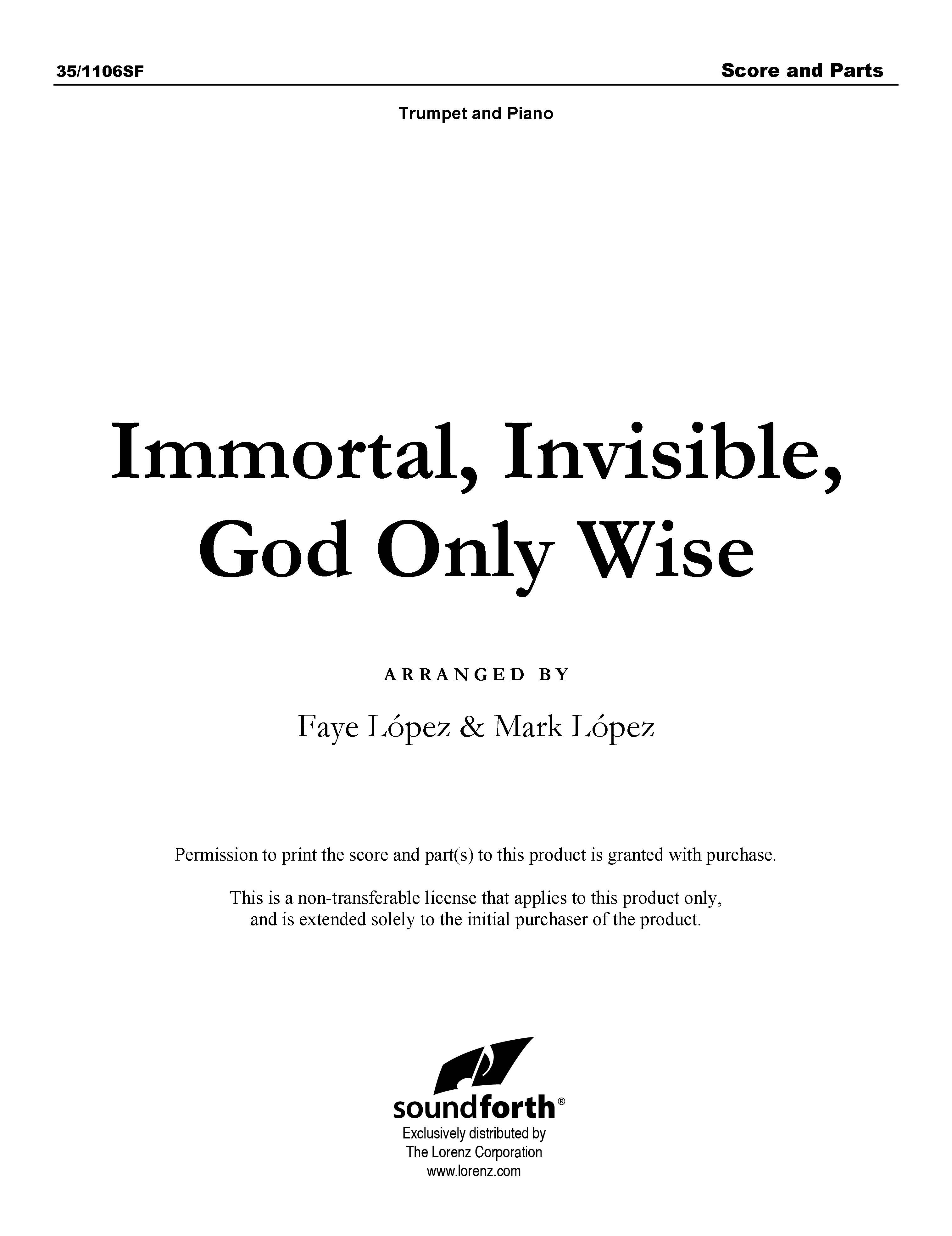 Immortal, Invisible, God Only Wise (Digital Delivery)