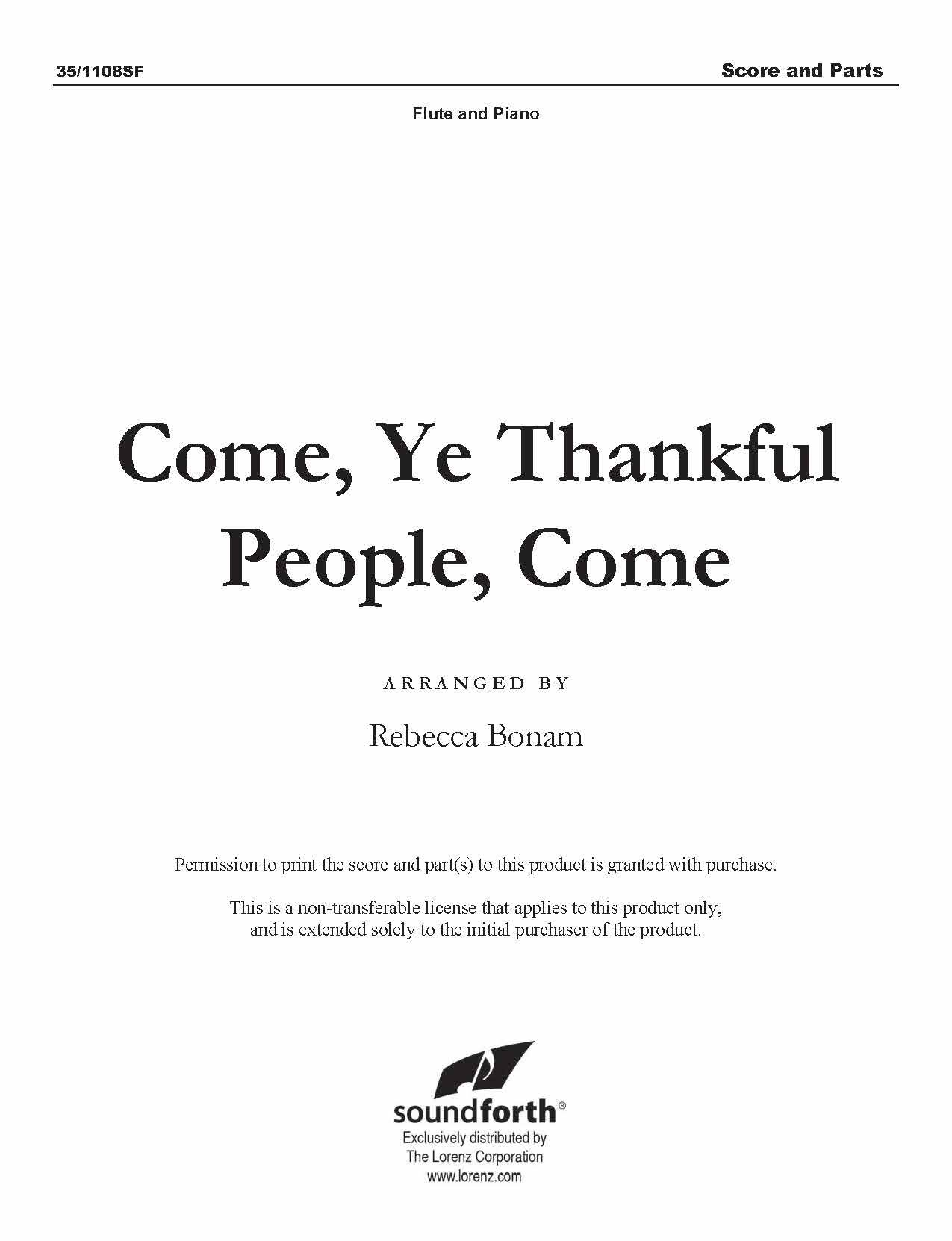 Come, Ye Thankful People, Come (Digital Delivery)