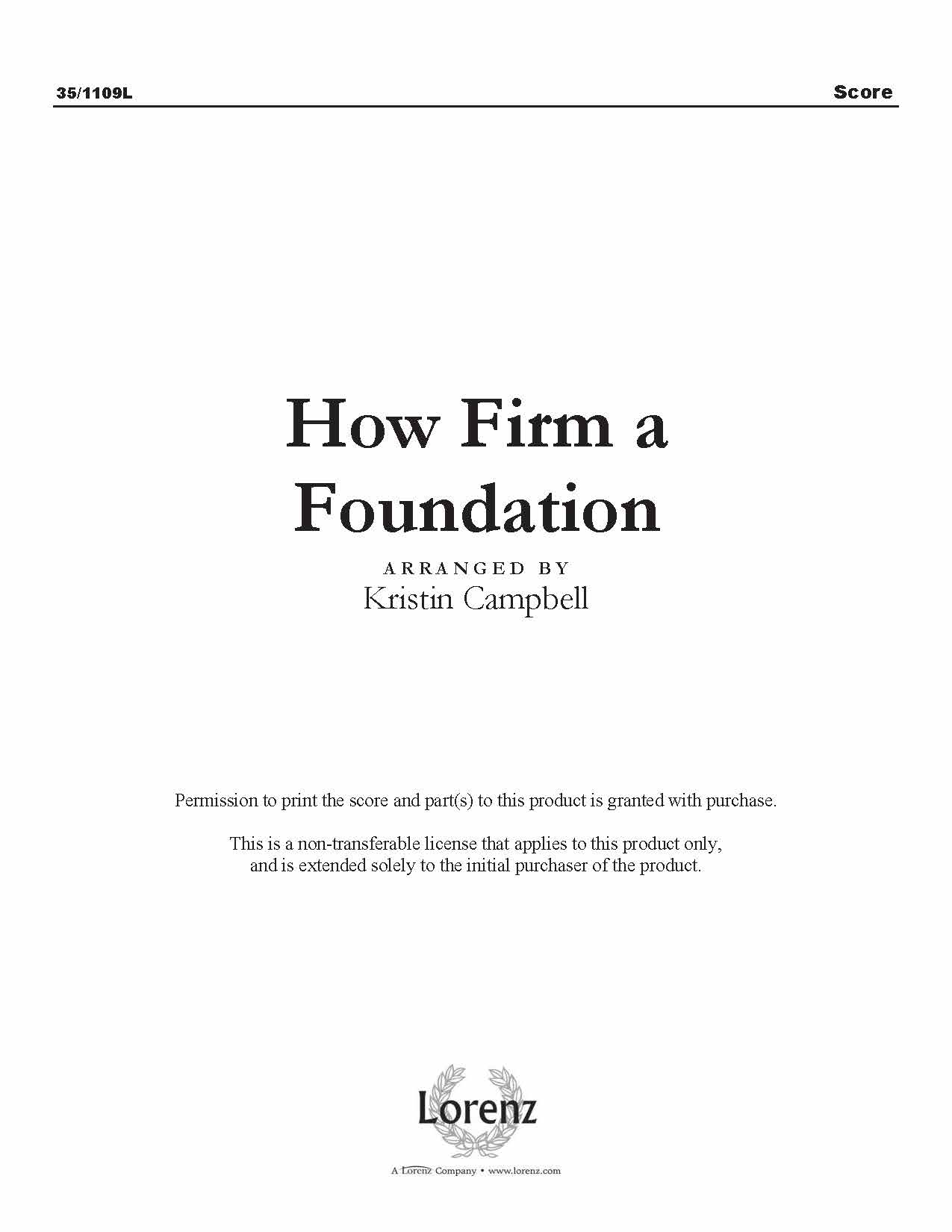 How Firm a Foundation (Digital Delivery)