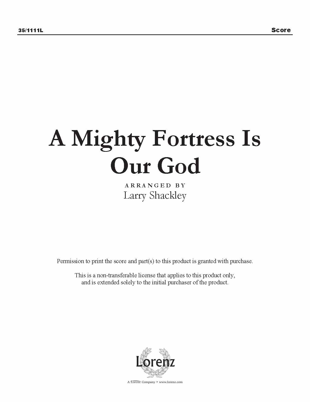 A Mighty Fortress Is Our God (Digital Delivery)