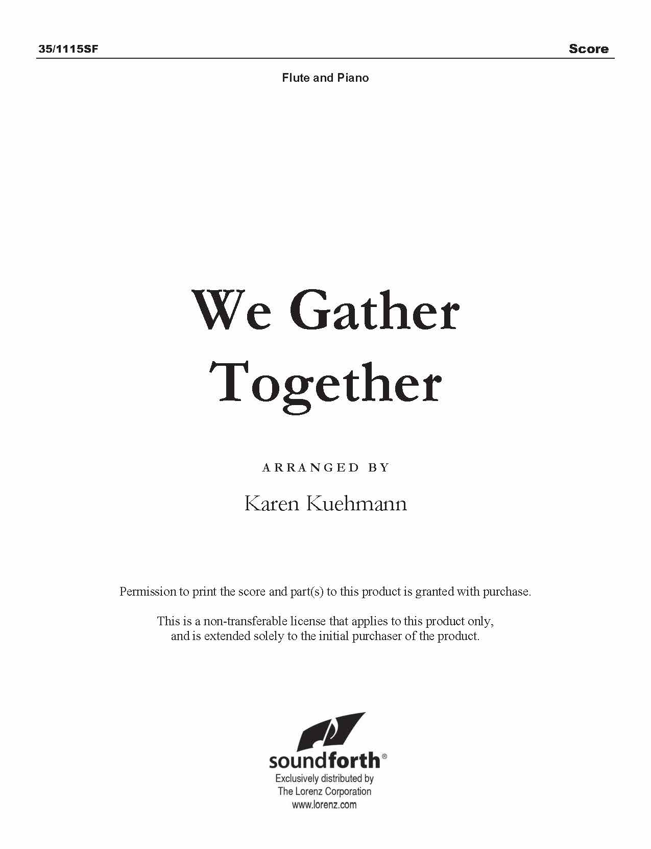 We Gather Together (Digital Delivery)