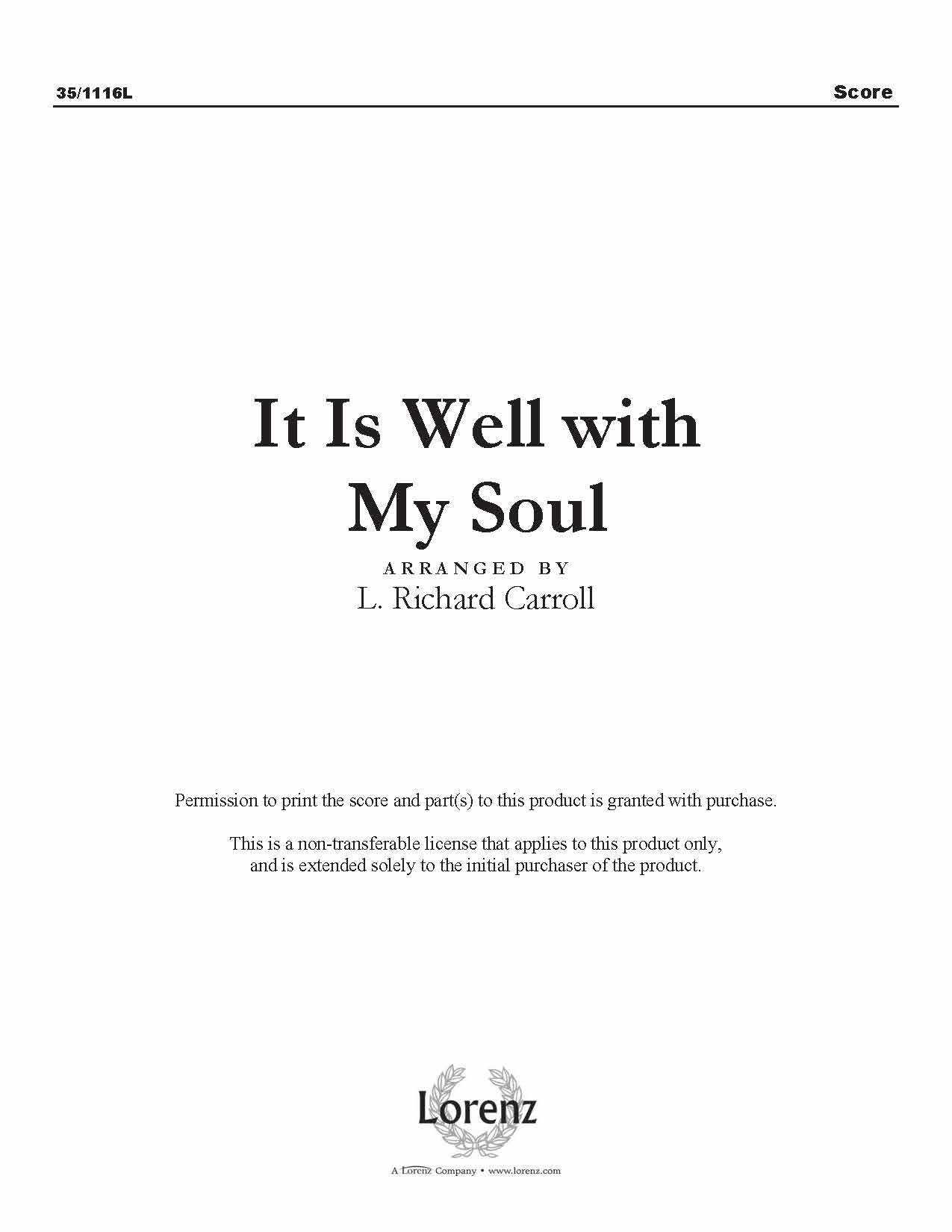 It Is Well with My Soul (Digital Delivery)