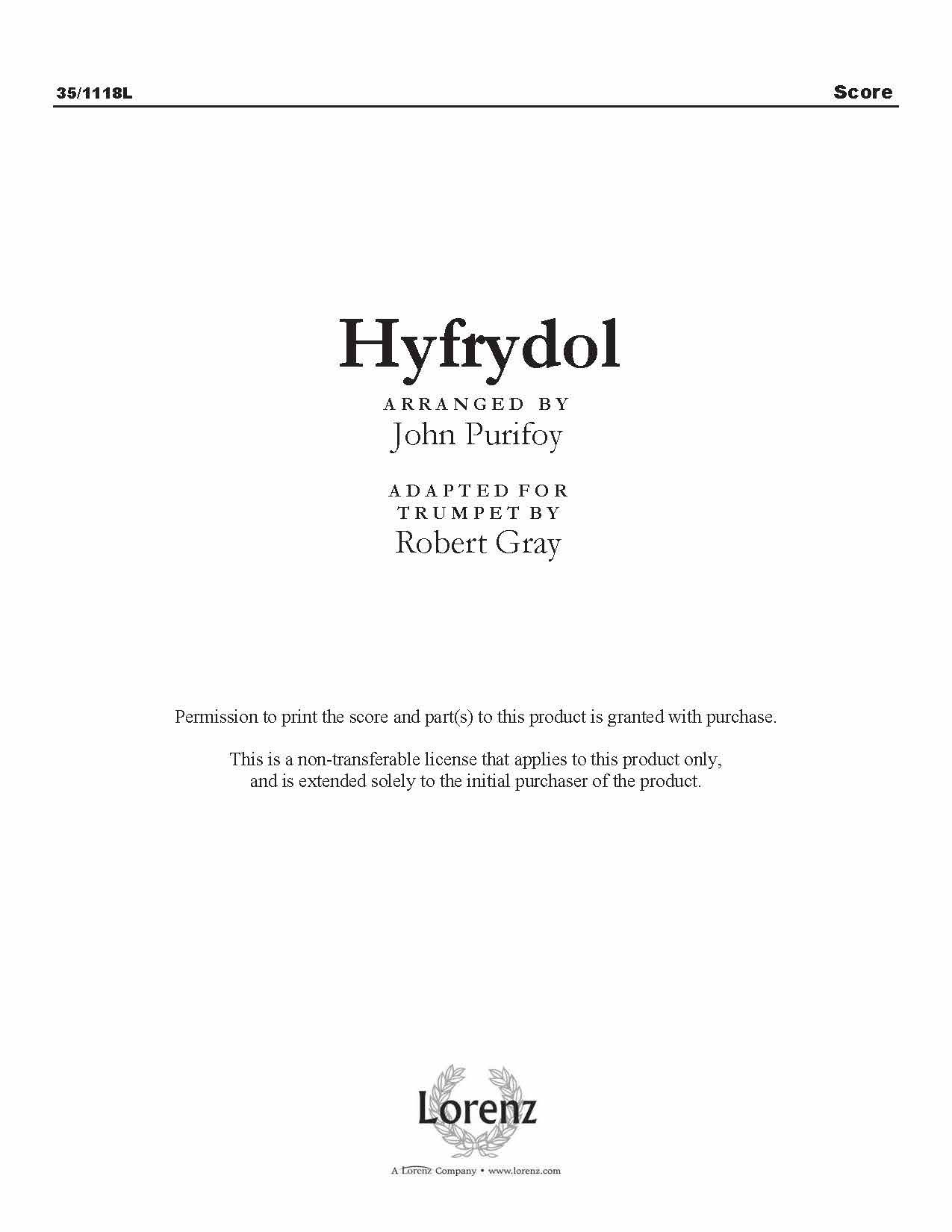 Hyfrydol (Digital Delivery)