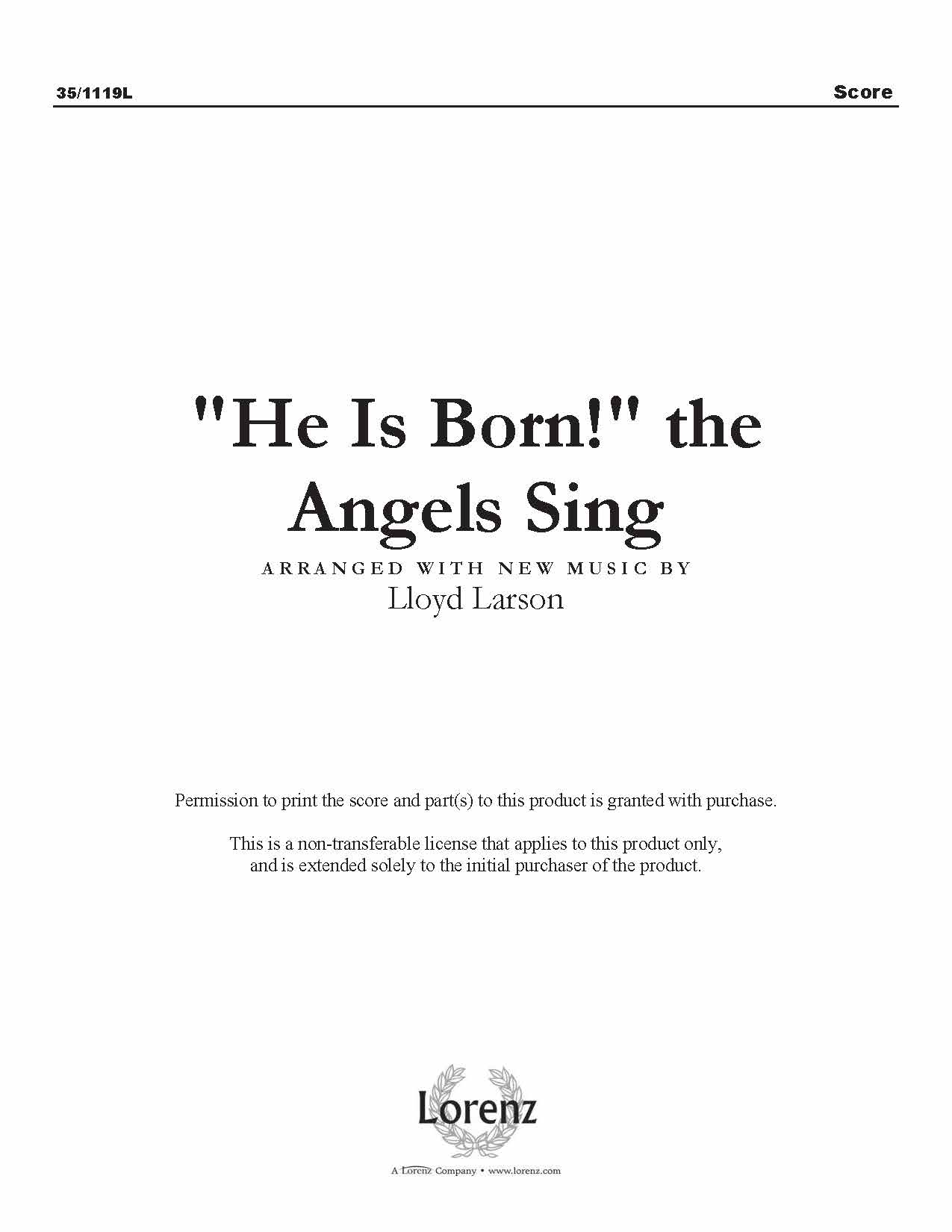 """He Is Born!"" the Angels Sing (Digital Delivery)"