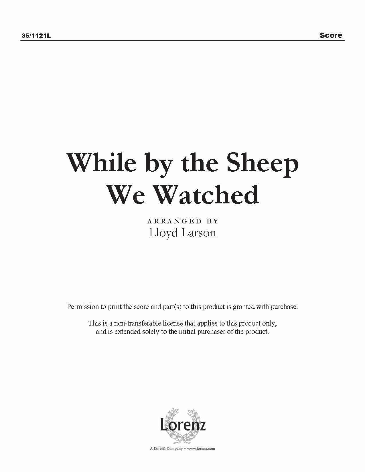 While by the Sheep We Watched (Digital Delivery)