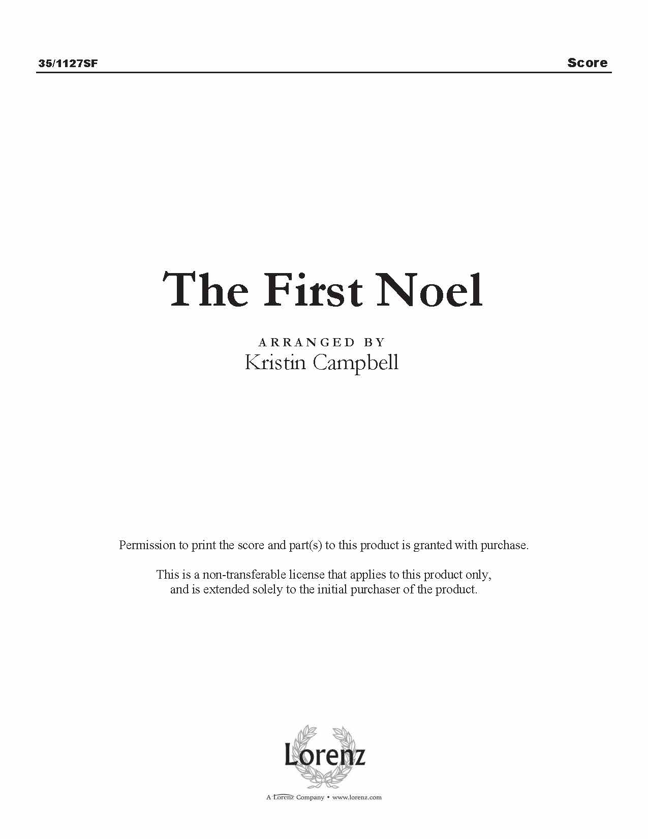 The First Noel (Digital Delivery)