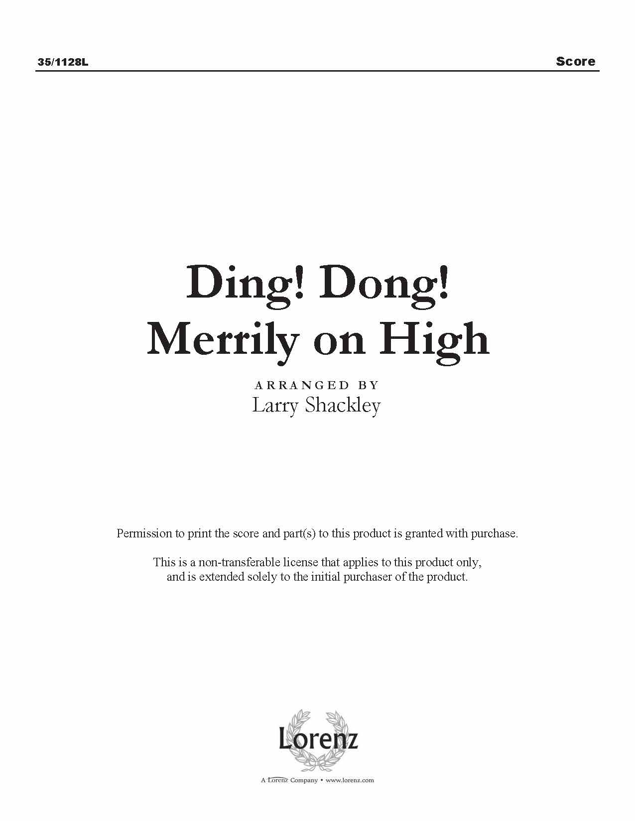 Ding! Dong! Merrily on High (Digital Delivery)