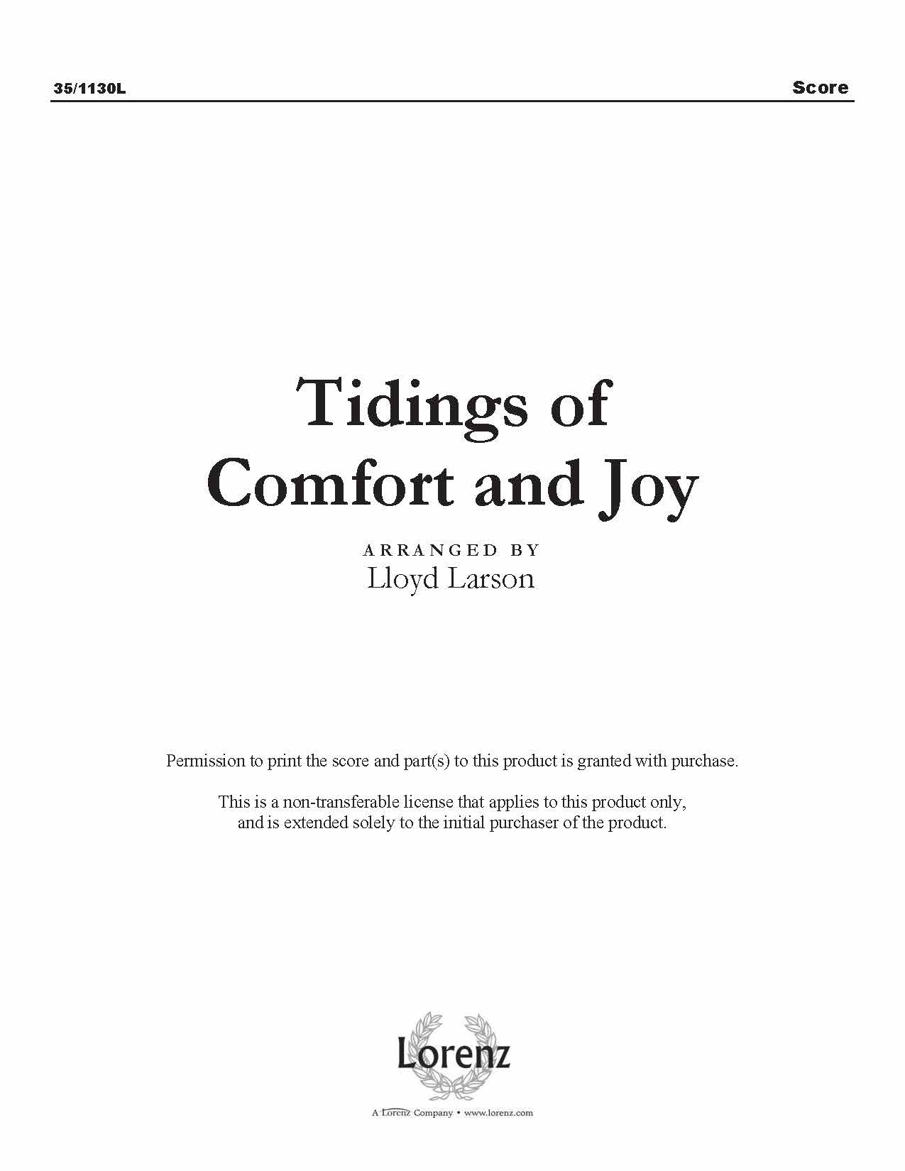 Tidings of Comfort and Joy (Digital Delivery)
