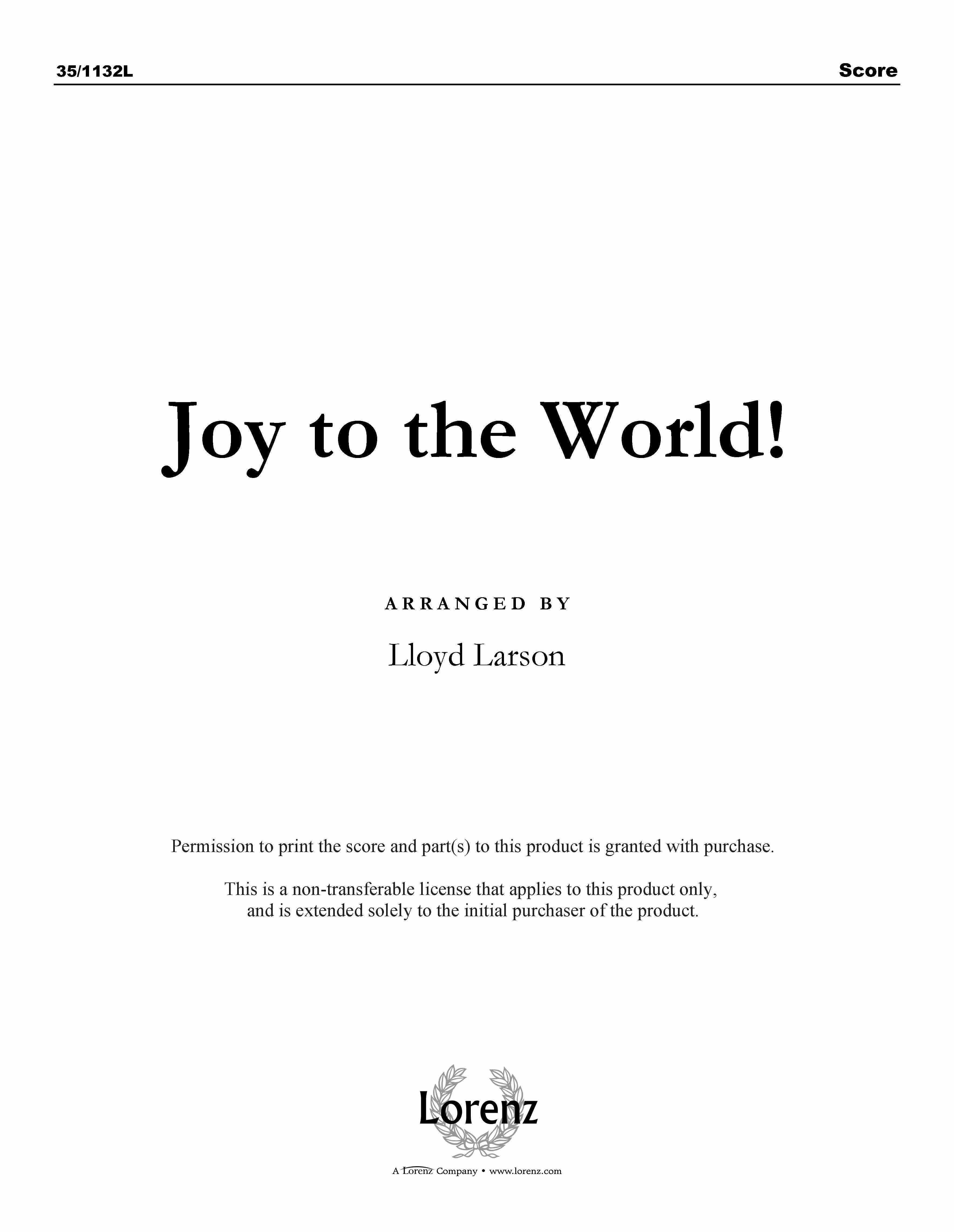 Joy to the World! (Digital Delivery)