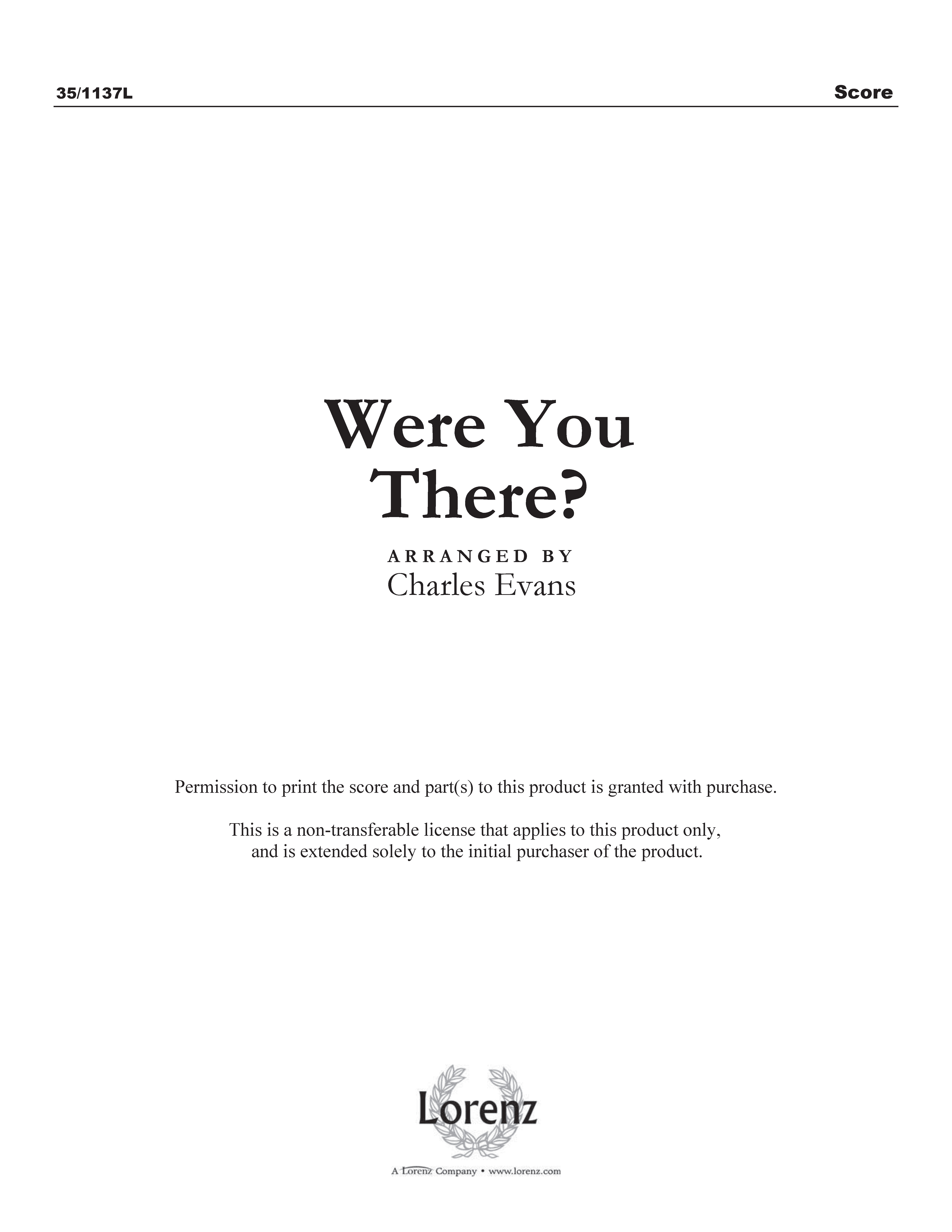 Were You There? (Digital Delivery)