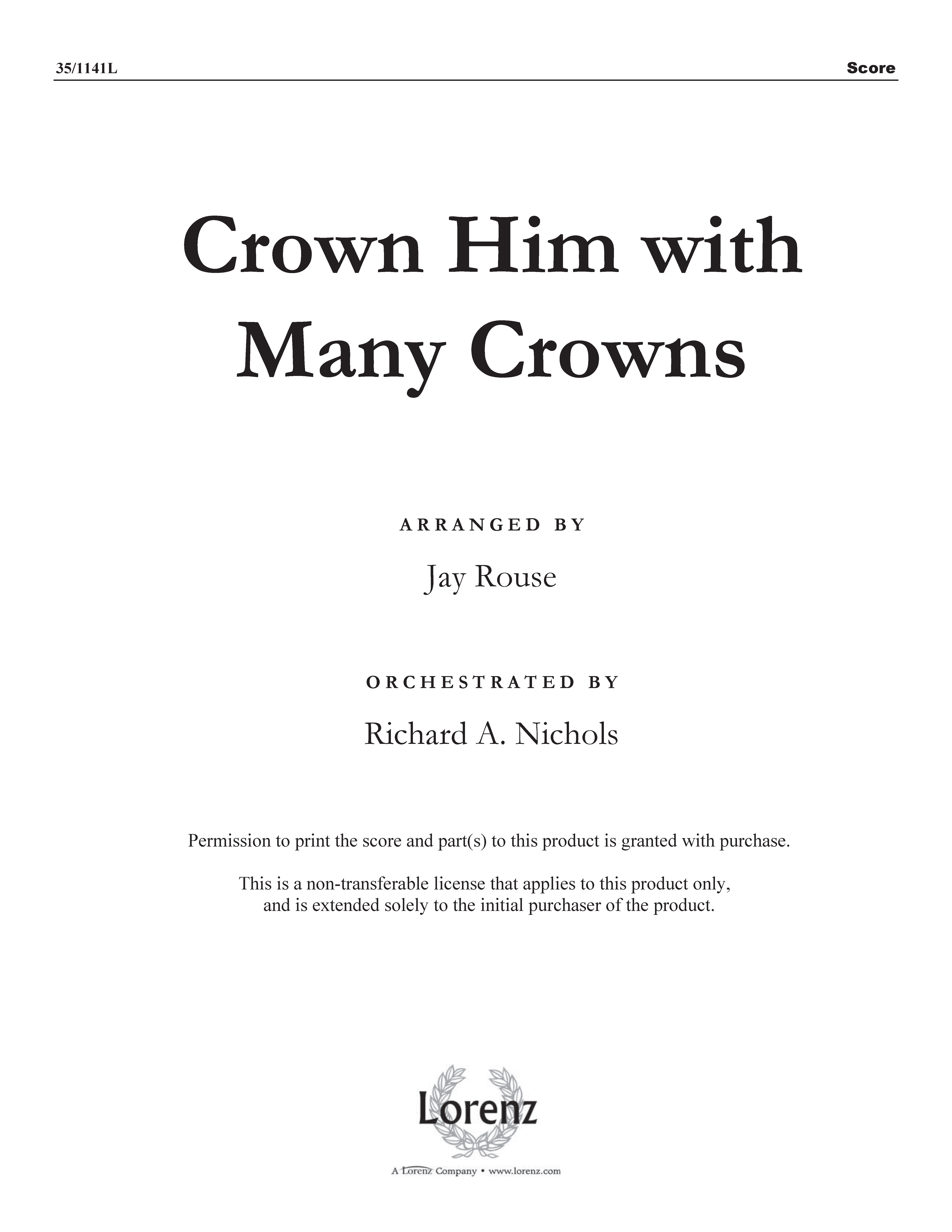 Crown Him with Many Crowns (Digital Delivery)