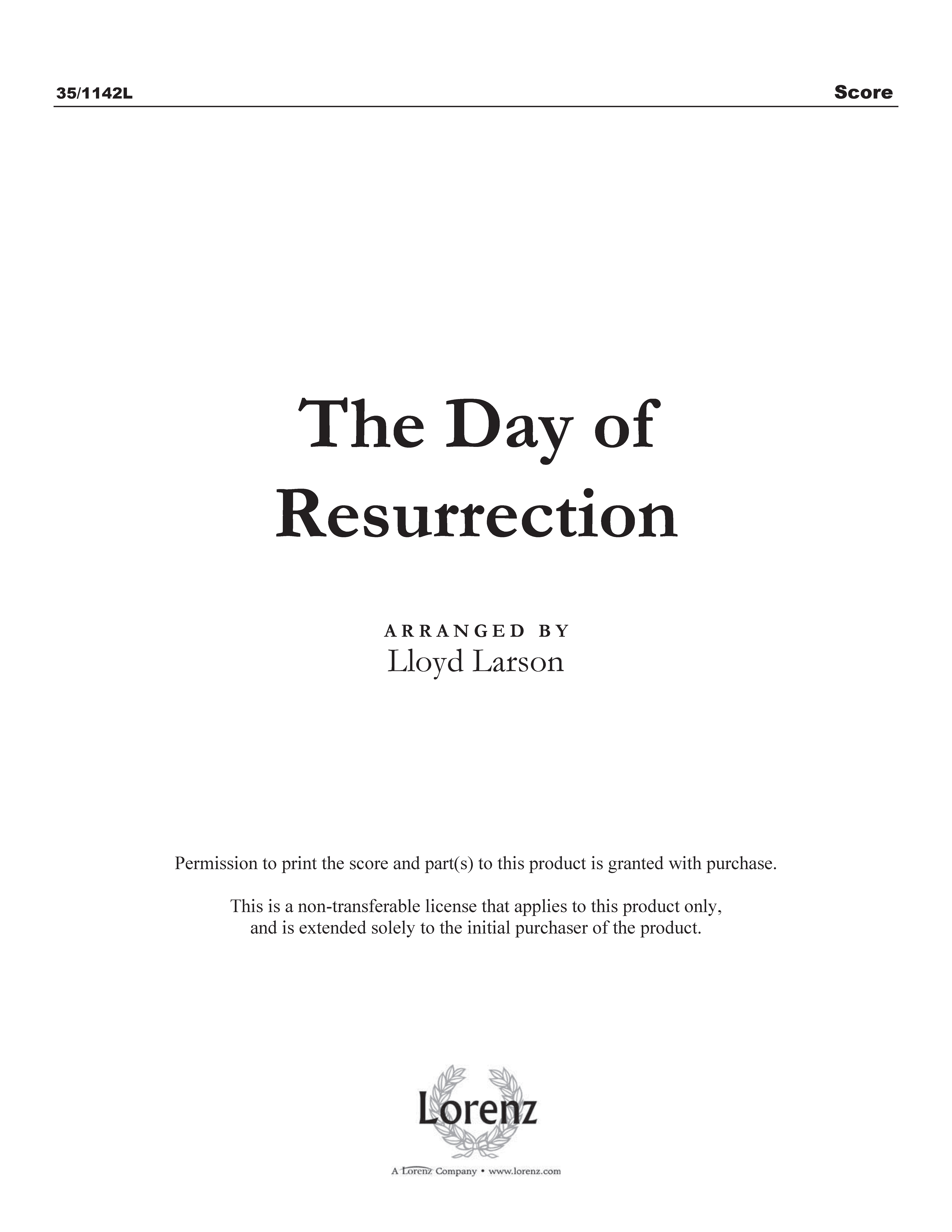 The Day of Resurrection (Digital Delivery)