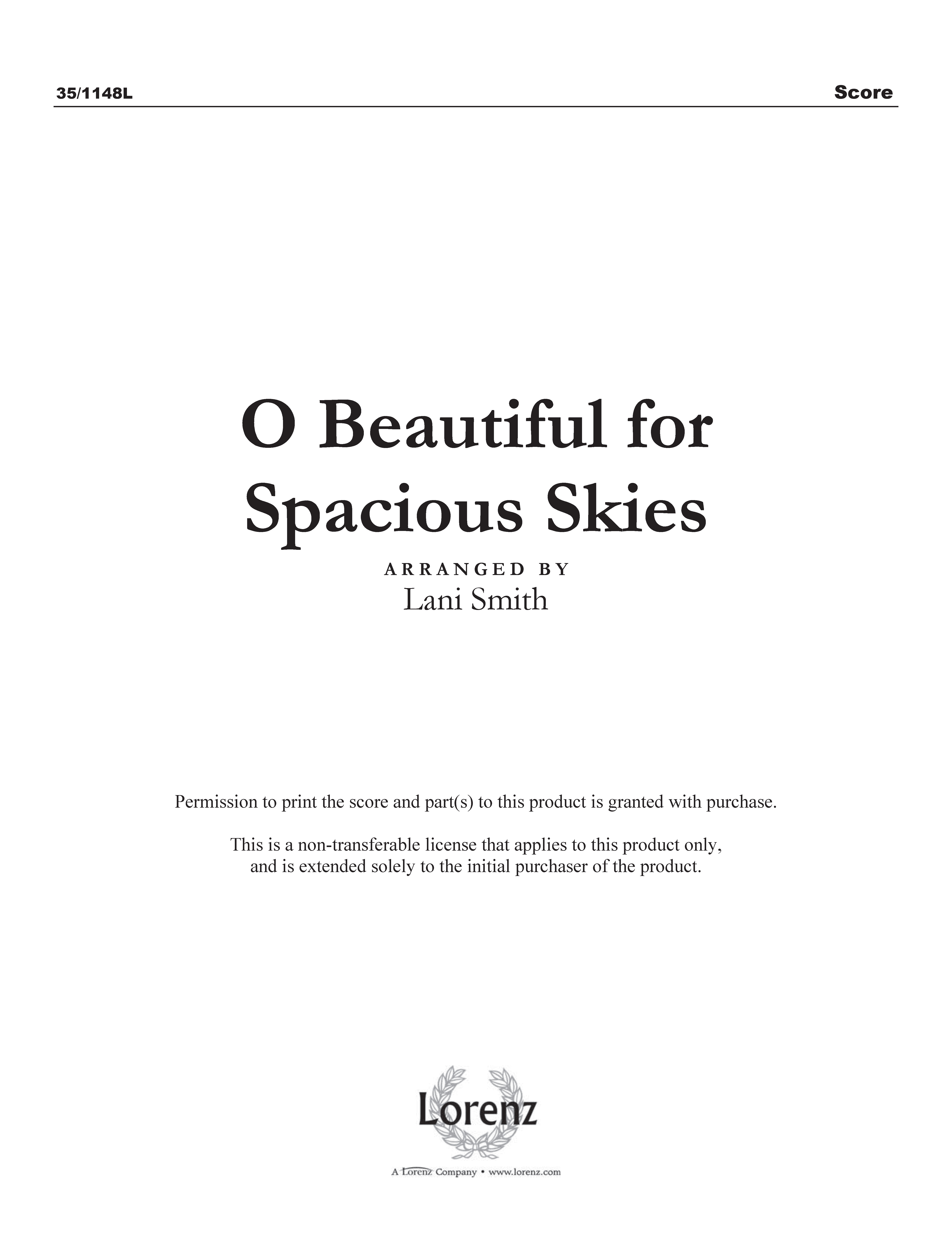 O Beautiful for Spacious Skies (Digital Delivery)