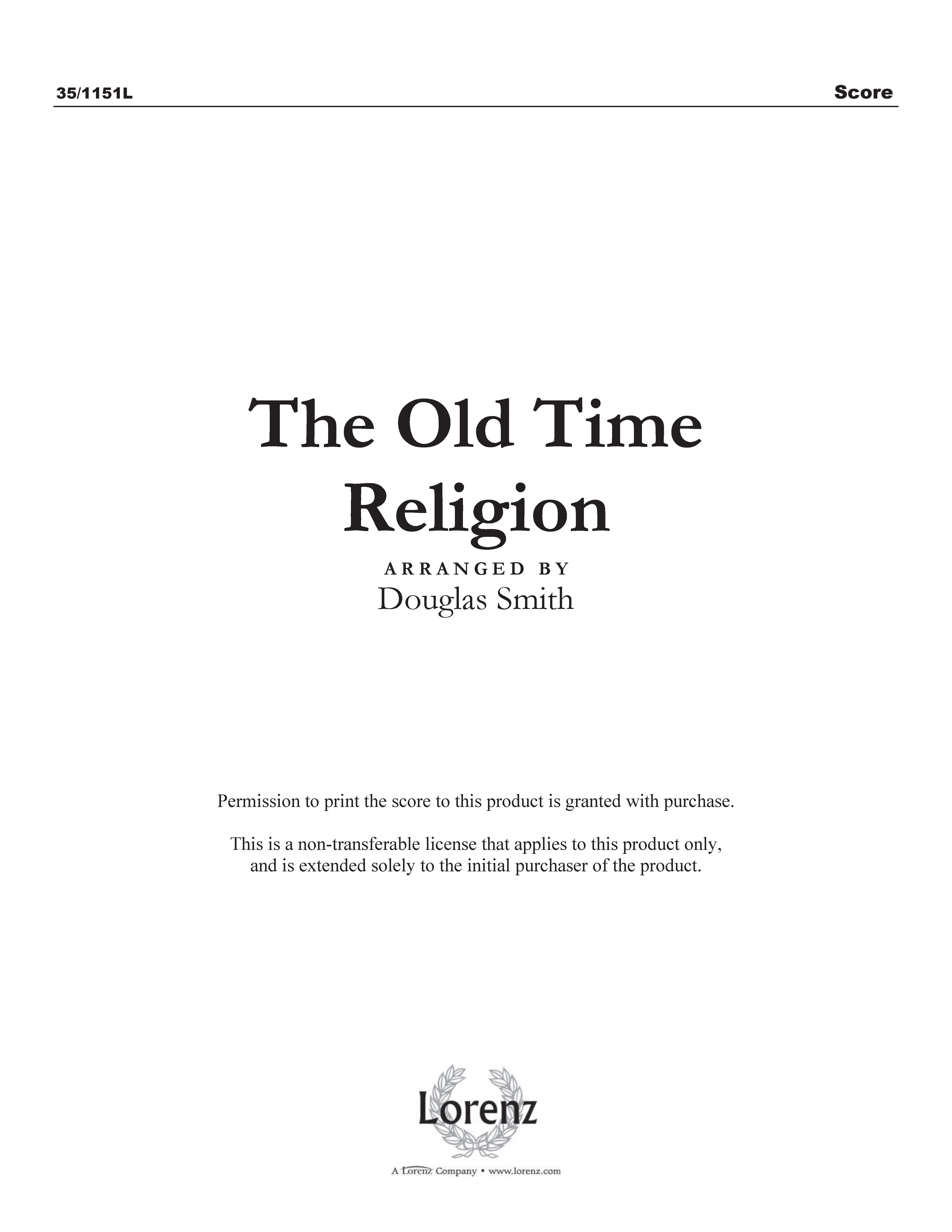 The Old Time Religion - Clarinet (Digital Delivery)