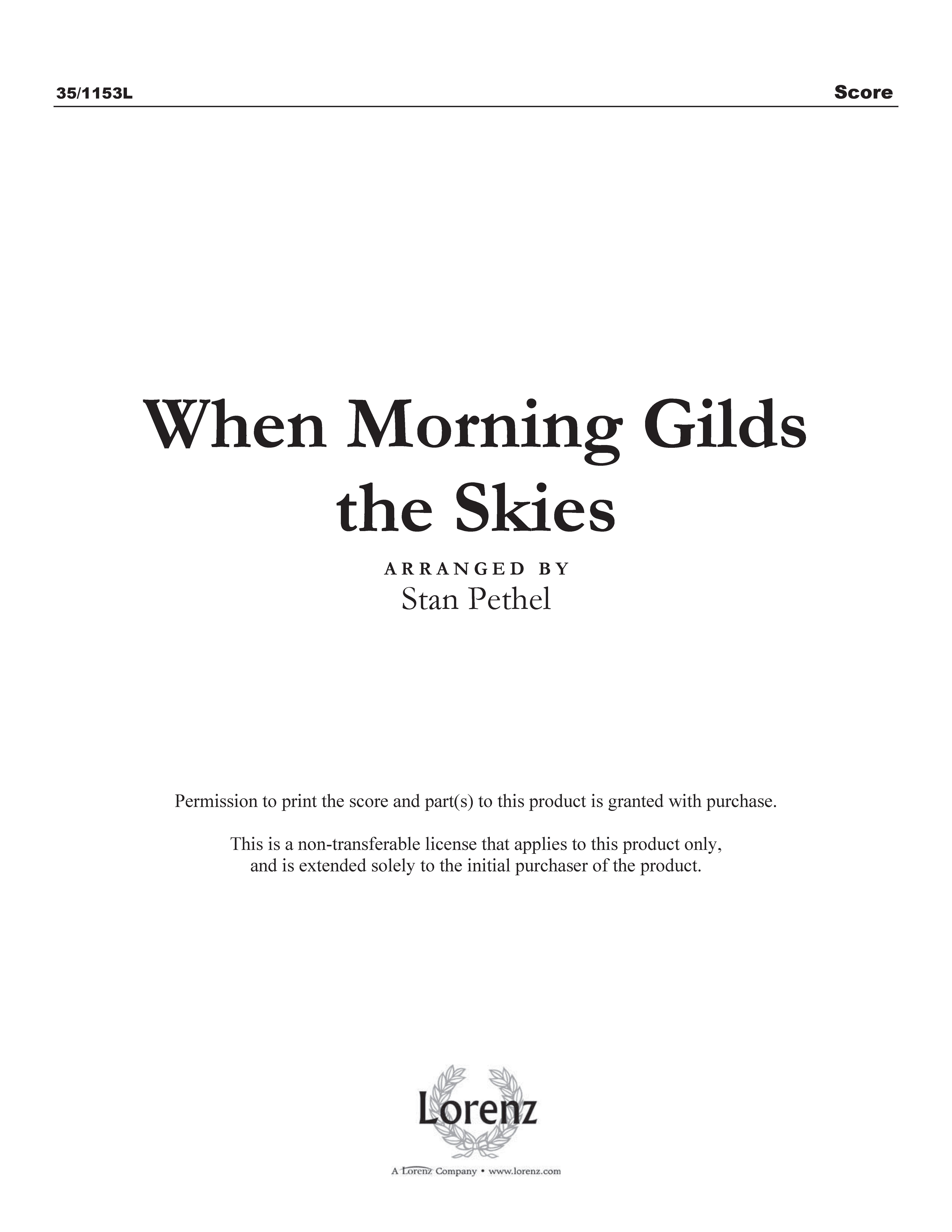 When Morning Gilds the Skies (Digital Delivery)