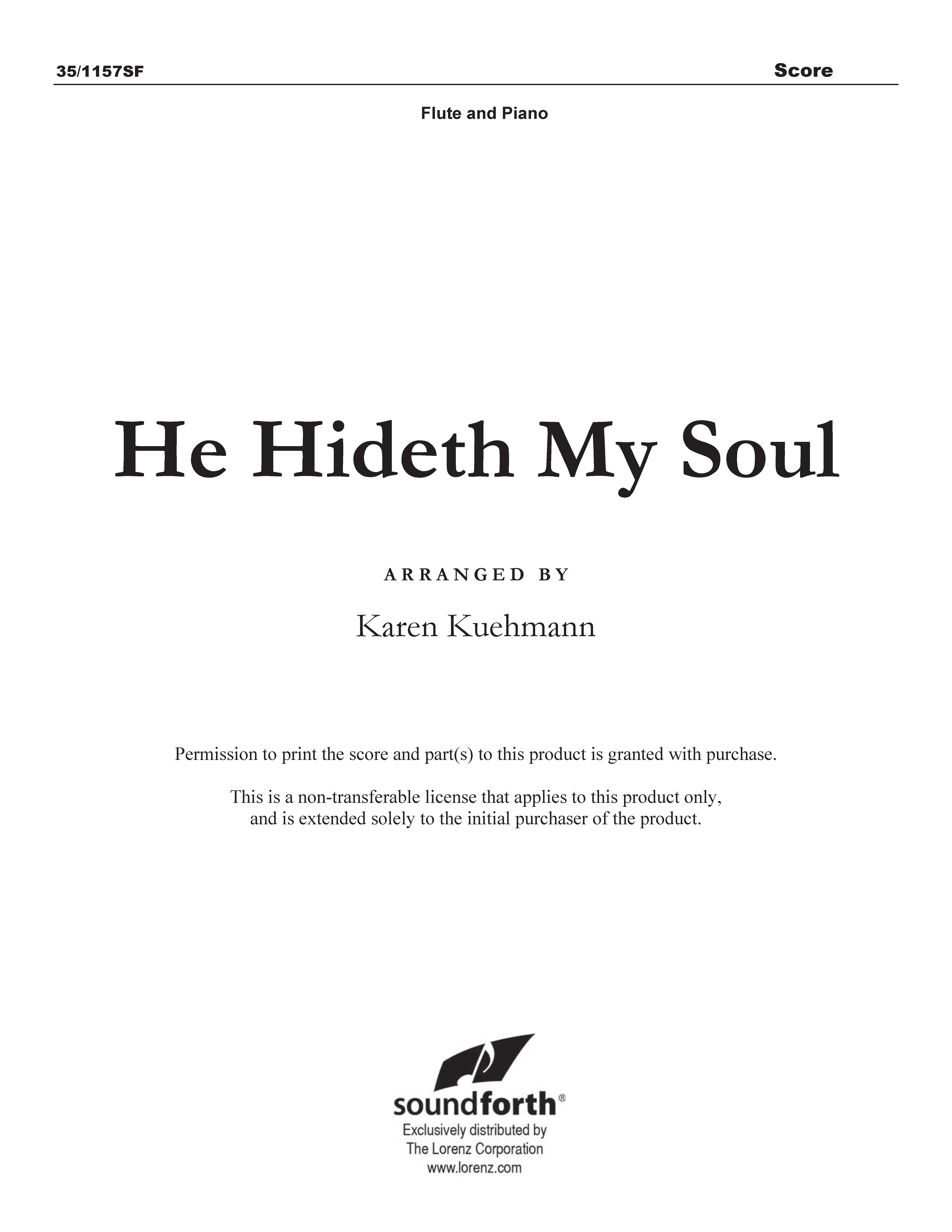 He Hideth My Soul (Digital Delivery)