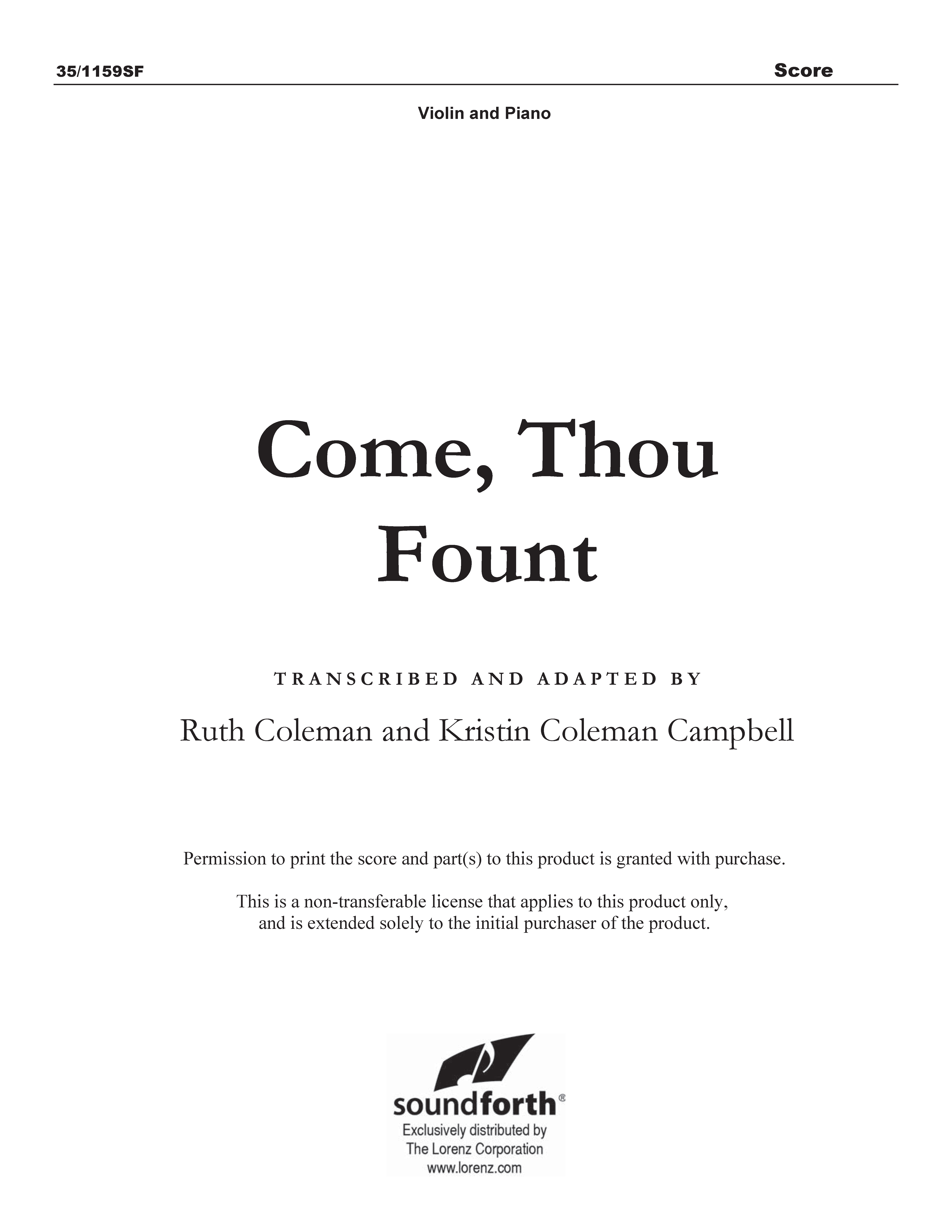 Come, Thou Fount (Digital Delivery)