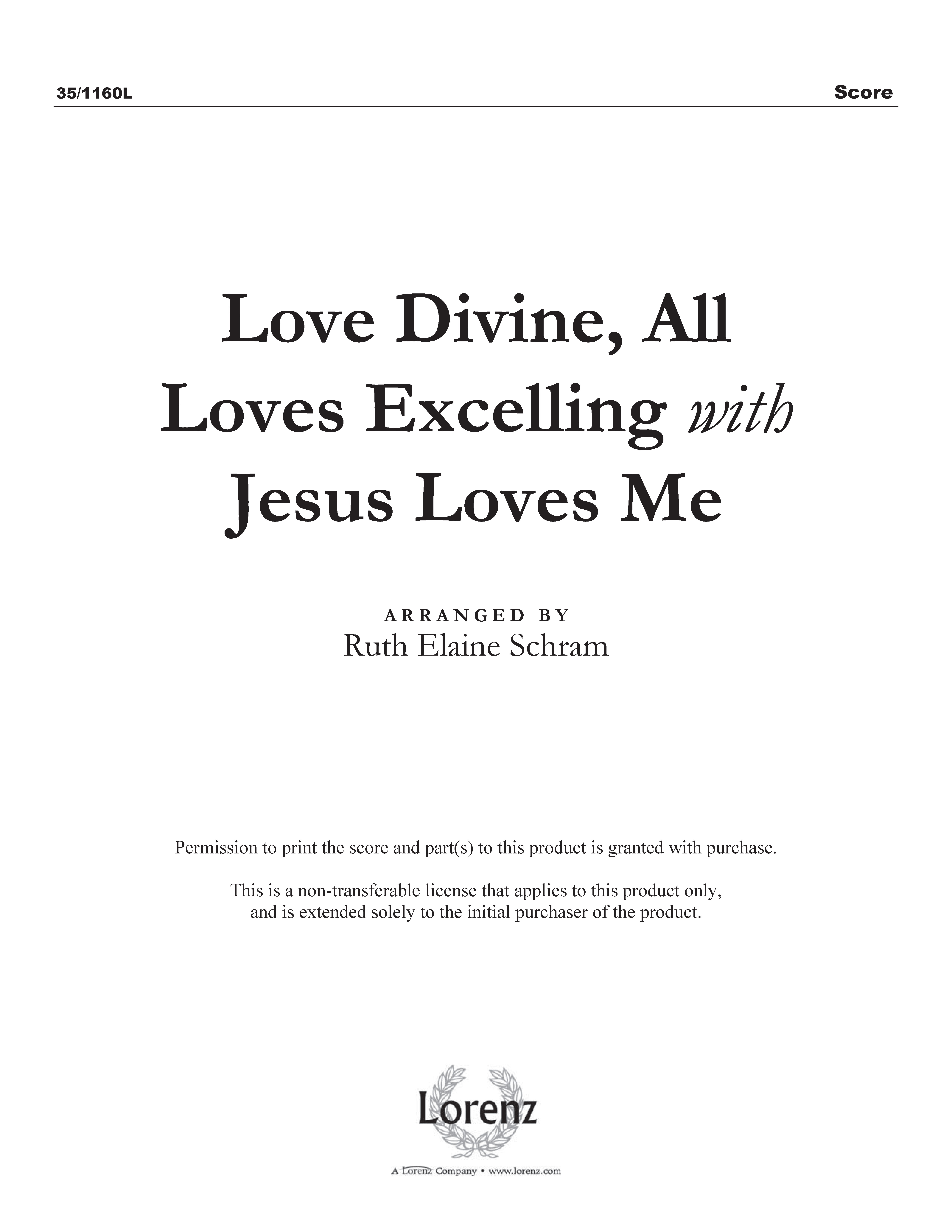 Love Divine, All Loves Excelling with Jesus Loves Me (Digital Delivery)