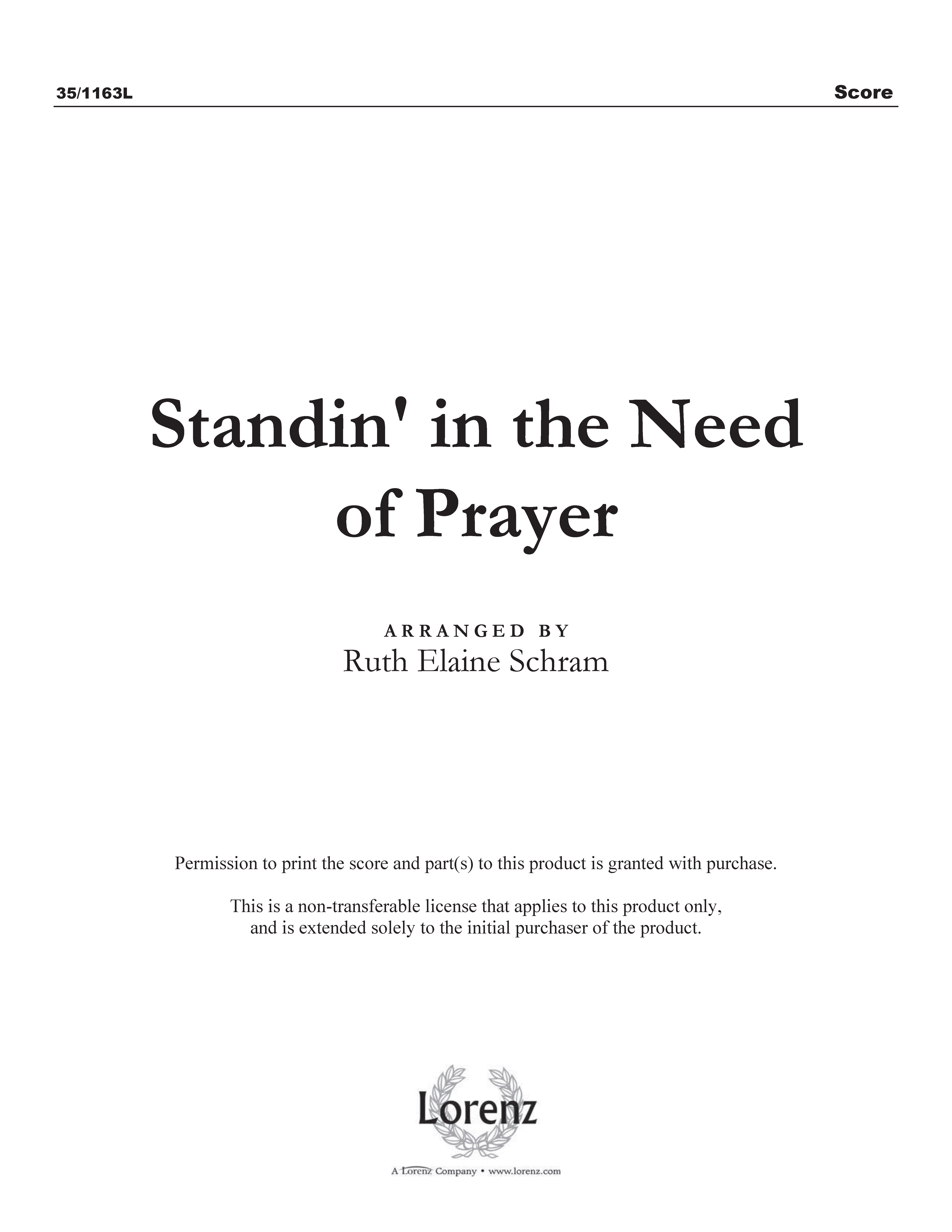 Standin' in the Need of Prayer (Digital Delivery)