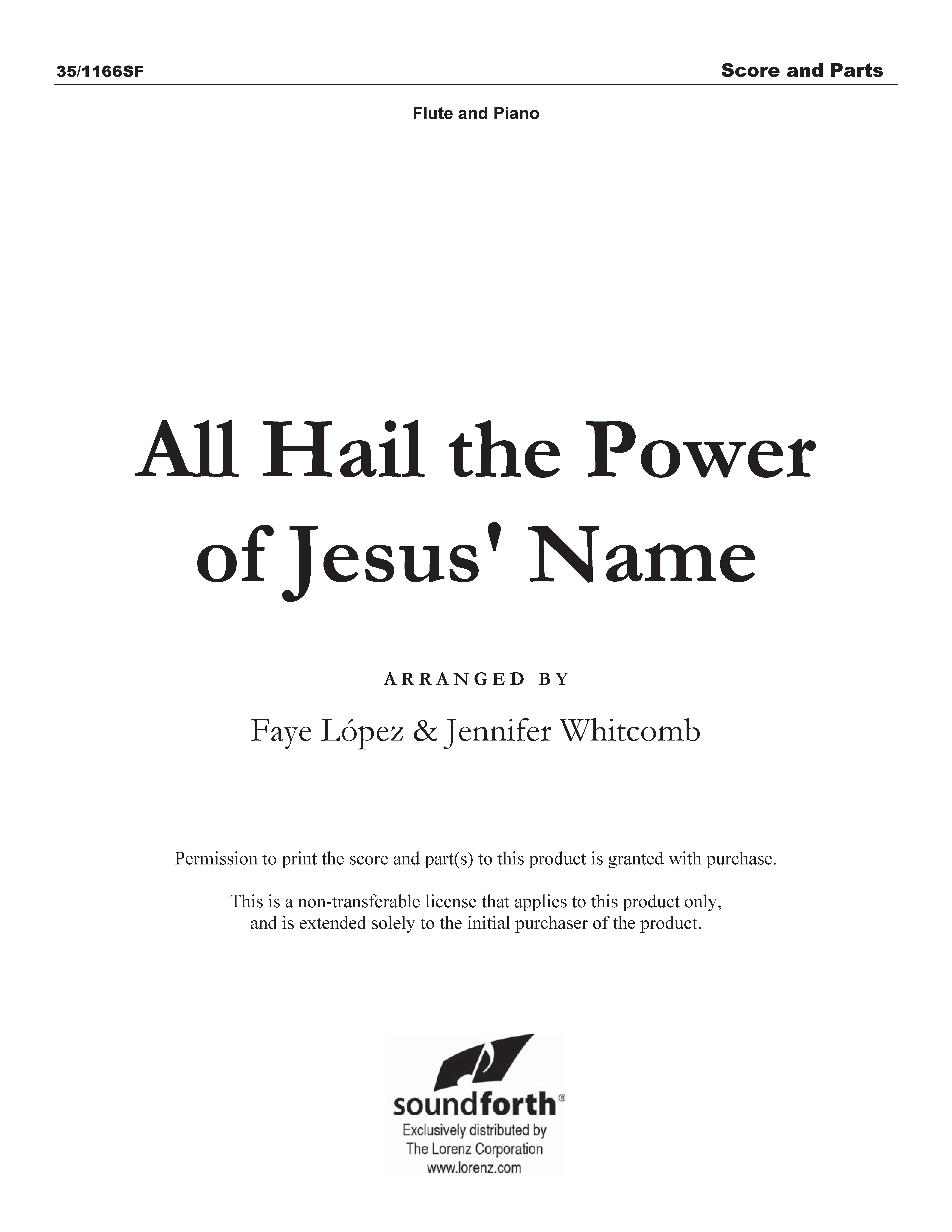 All Hail the Power of Jesus' Name (Digital Delivery)