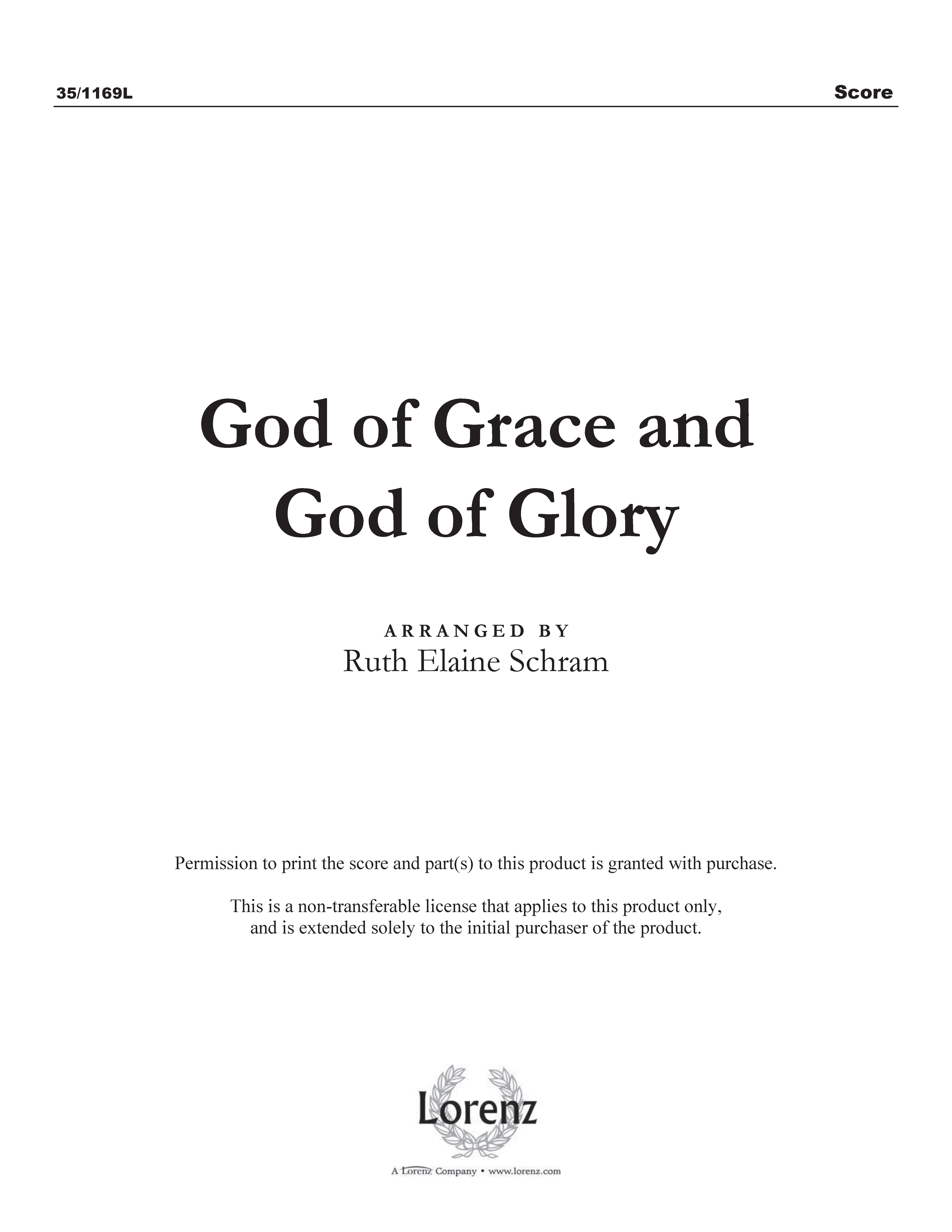 God of Grace and God of Glory (Digital Delivery)