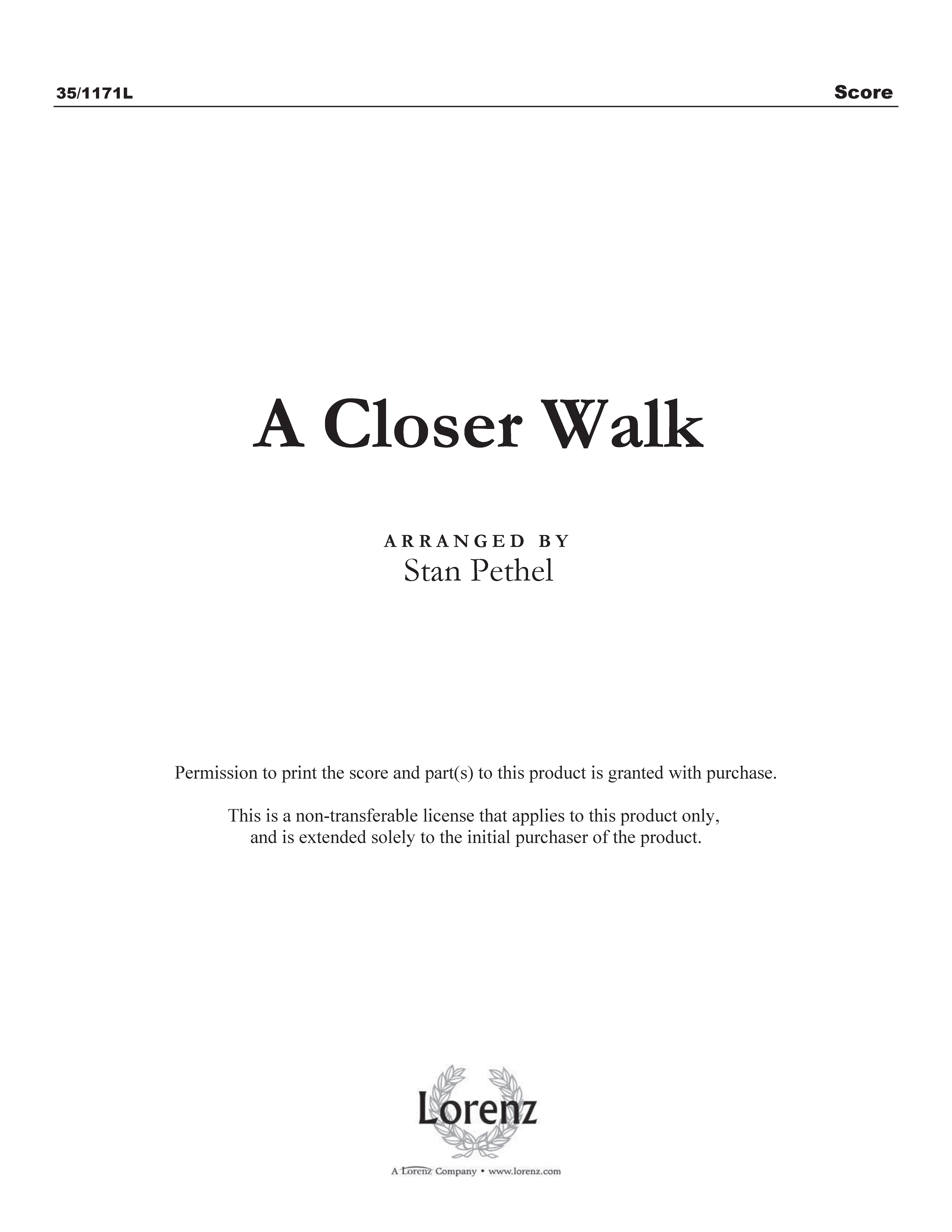 A Closer Walk (Digital Delivery)