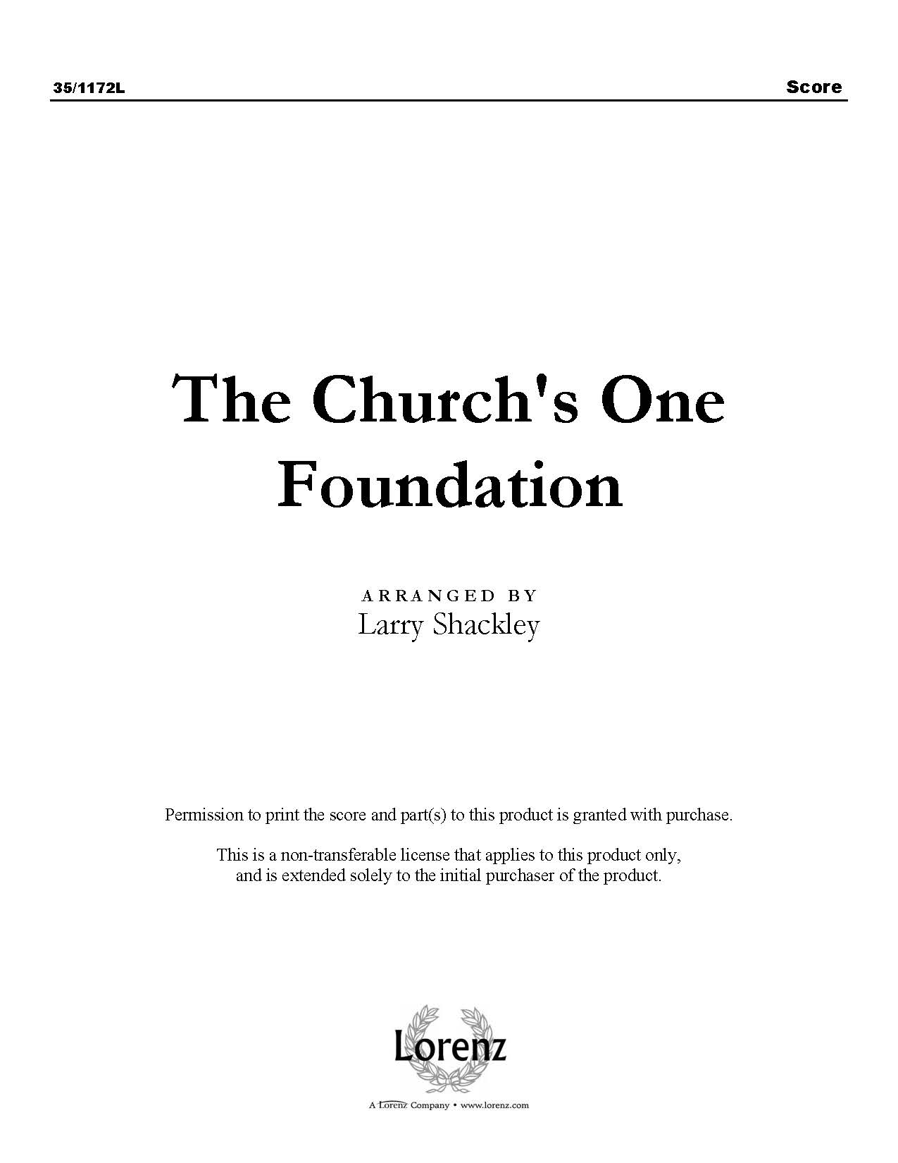 The Church's One Foundation (Digital Delivery)