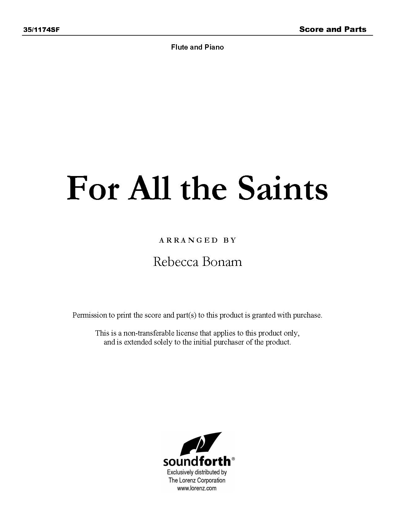 For All the Saints (Digital Delivery)