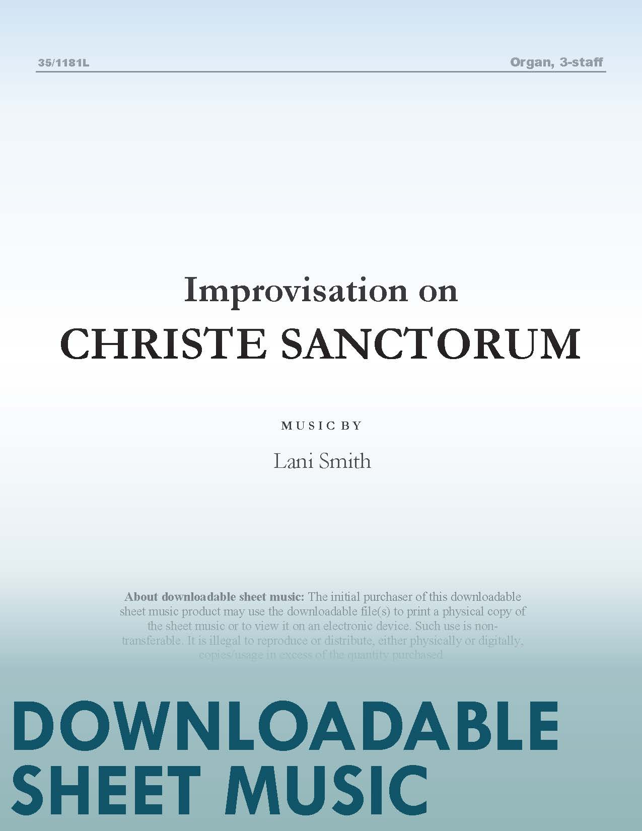 "Improvisation on ""Christe Sanctorum"""