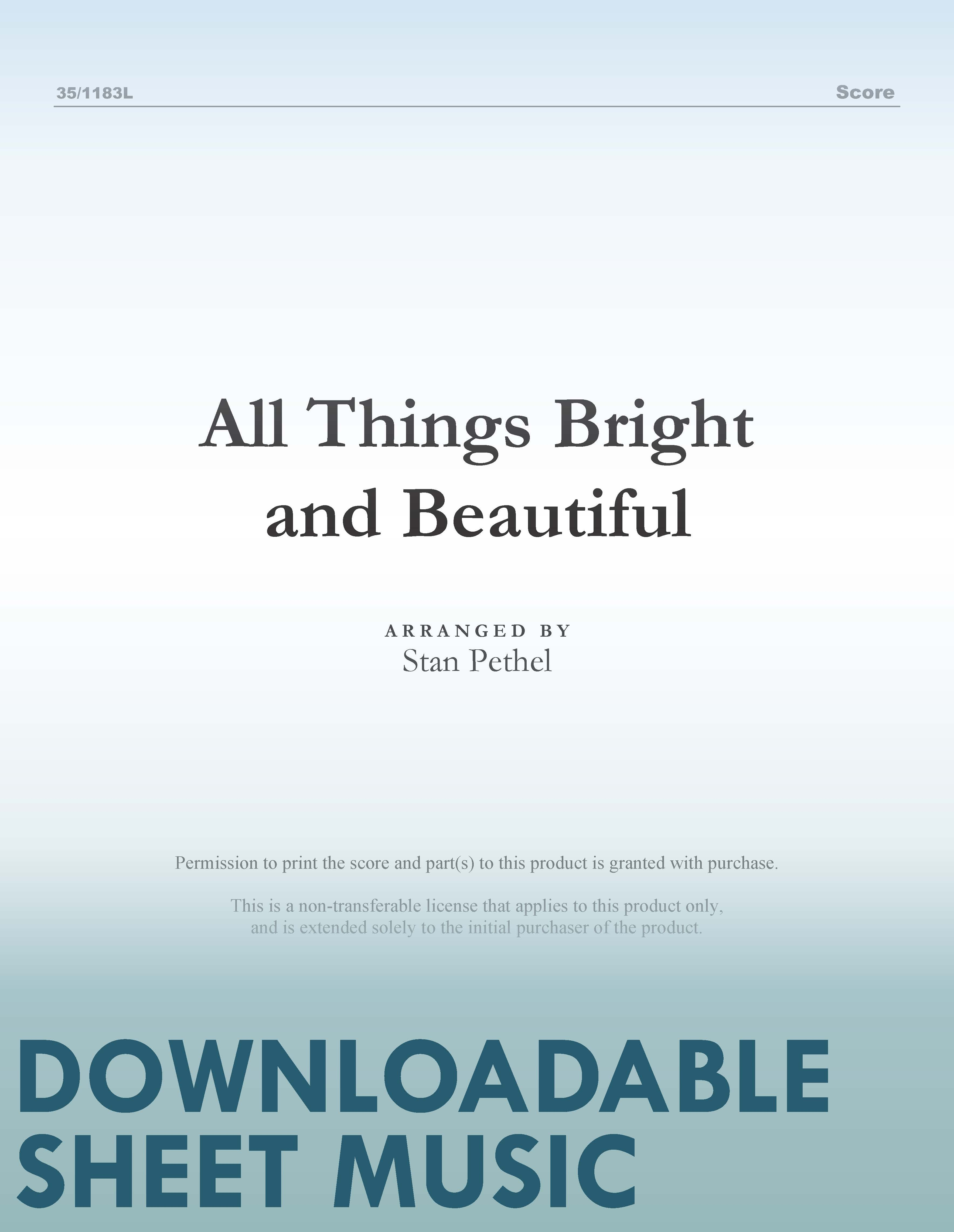 All Things Bright and Beautiful (Digital Delivery)
