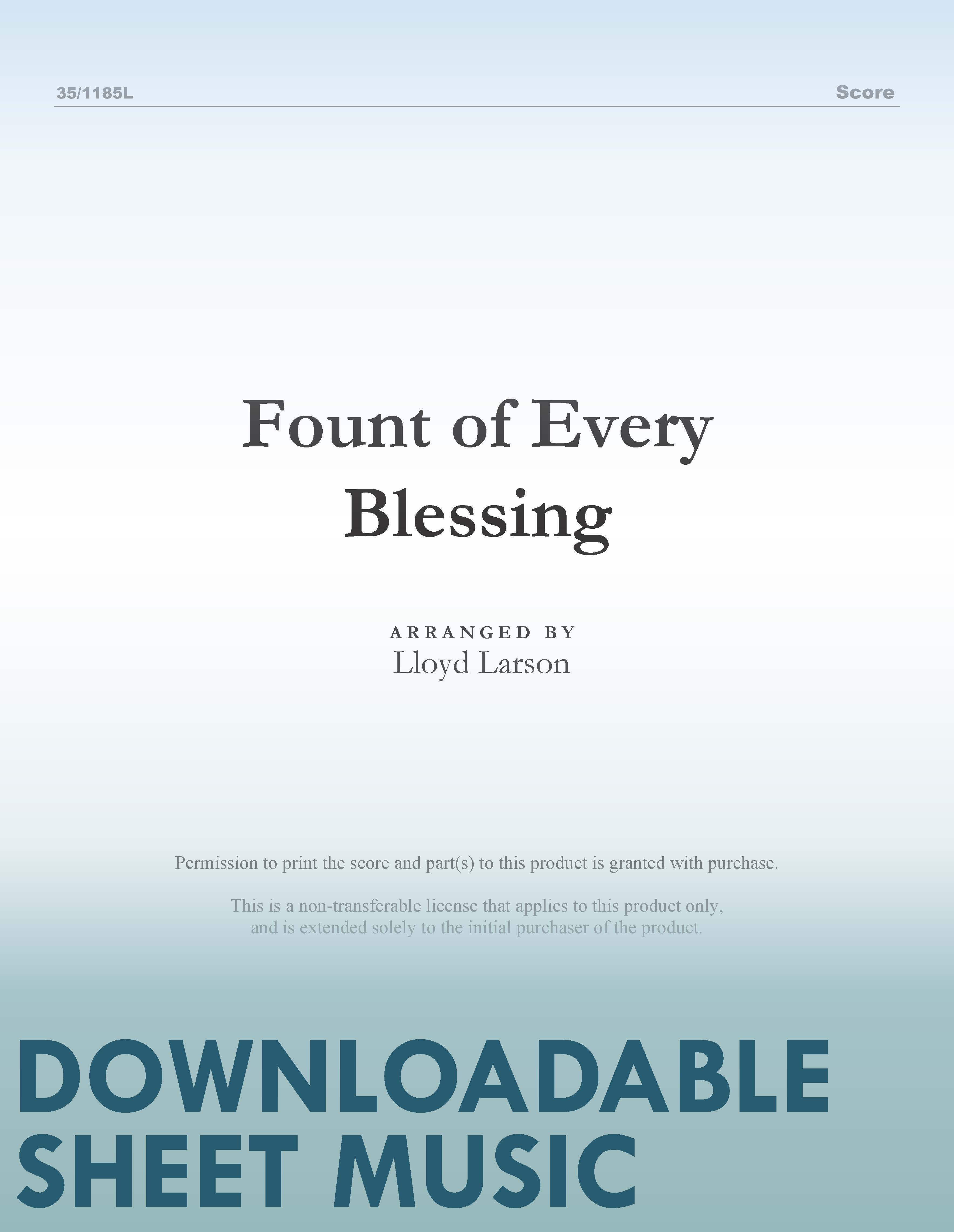 Fount of Every Blessing (Digital Delivery)