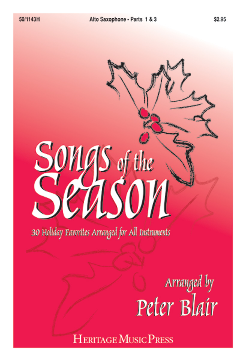 Songs of the Season - Alto Saxophone (Parts 1 & 3)