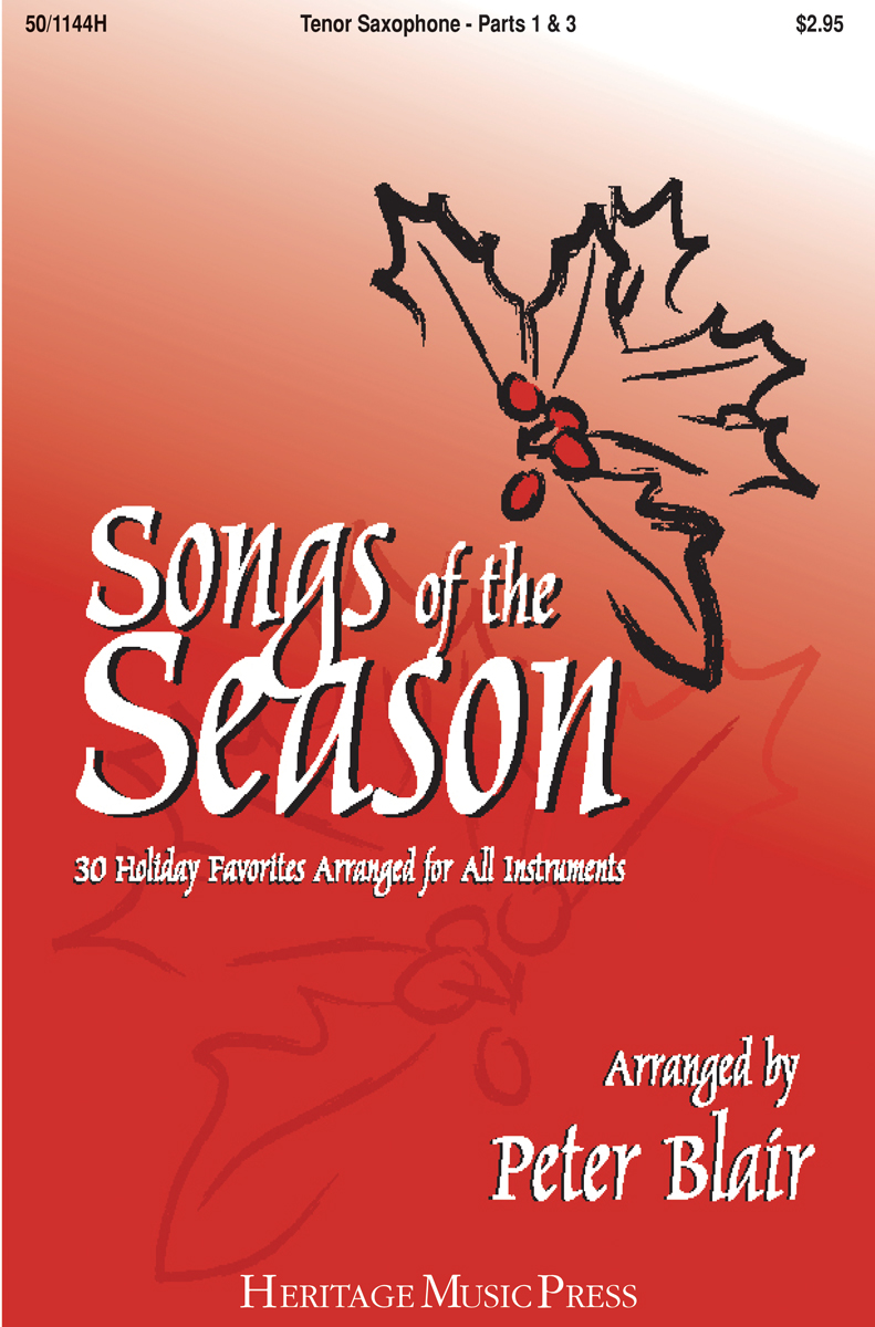 Songs of the Season - Tenor Saxophone (Parts 1 & 3)