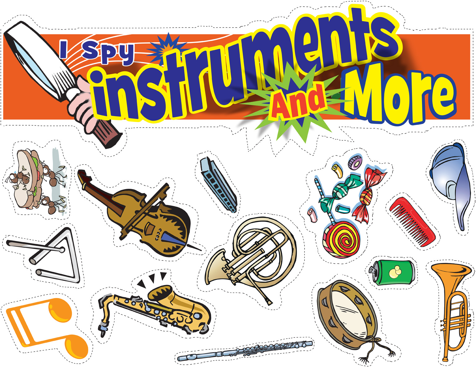Cut 'n' Go Bulletin Board - I Spy Instruments and More