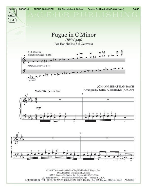 Fugue in C Minor