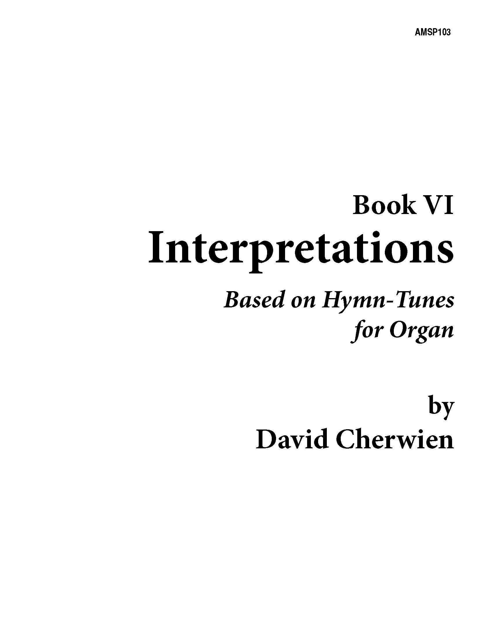 Interpretations, Book VI