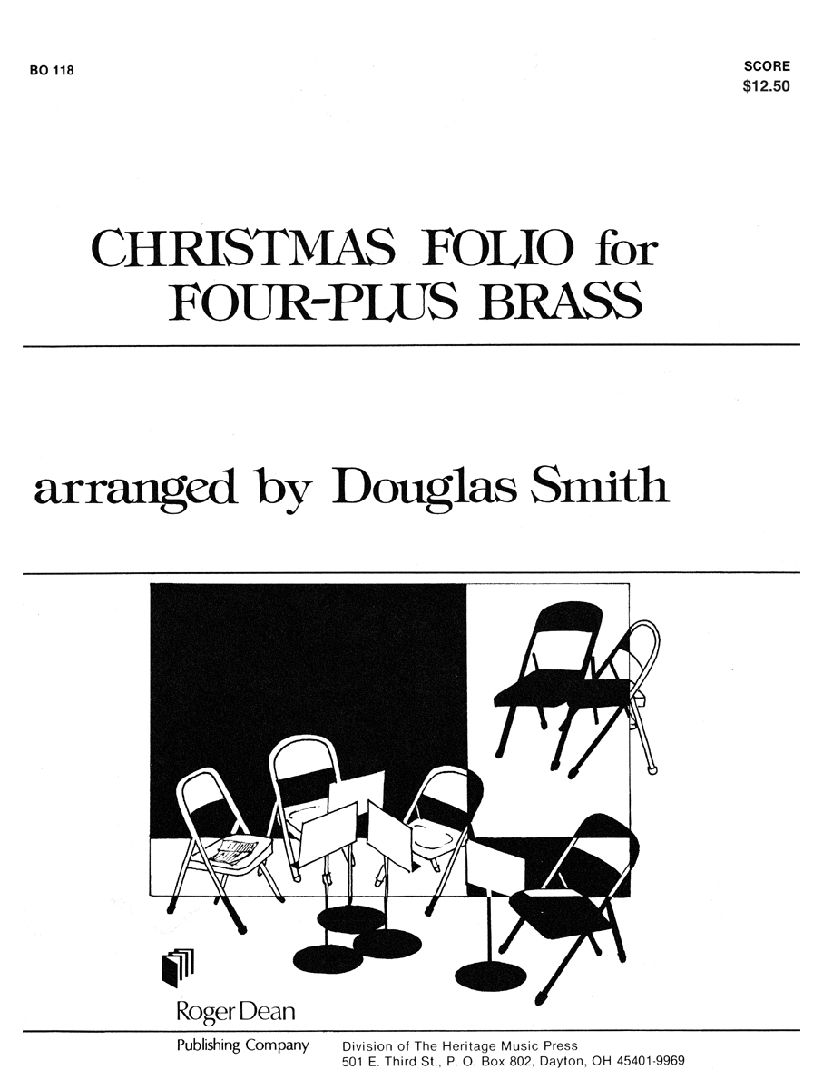 Christmas Folio for Four-Plus Brass - Score
