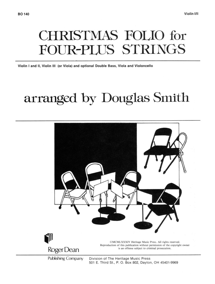 Christmas Folio for Four-Plus Strings - Violin