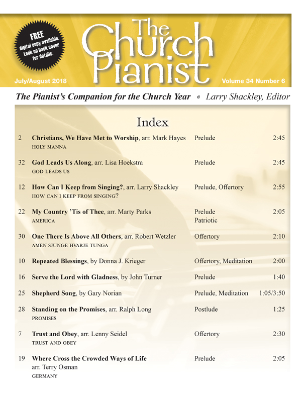The Church Pianist July/Aug 2018 - Digital Delivery