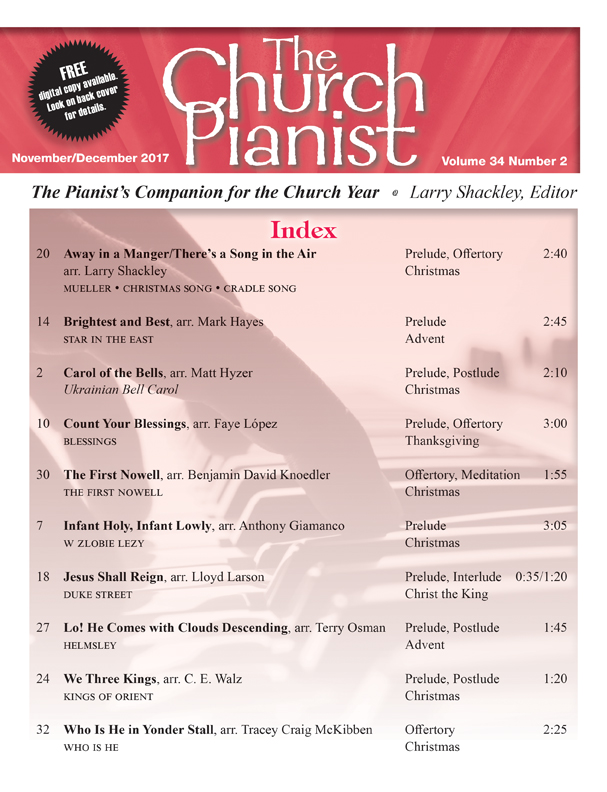 The Church Pianist Nov/Dec 2017 - Digital Delivery