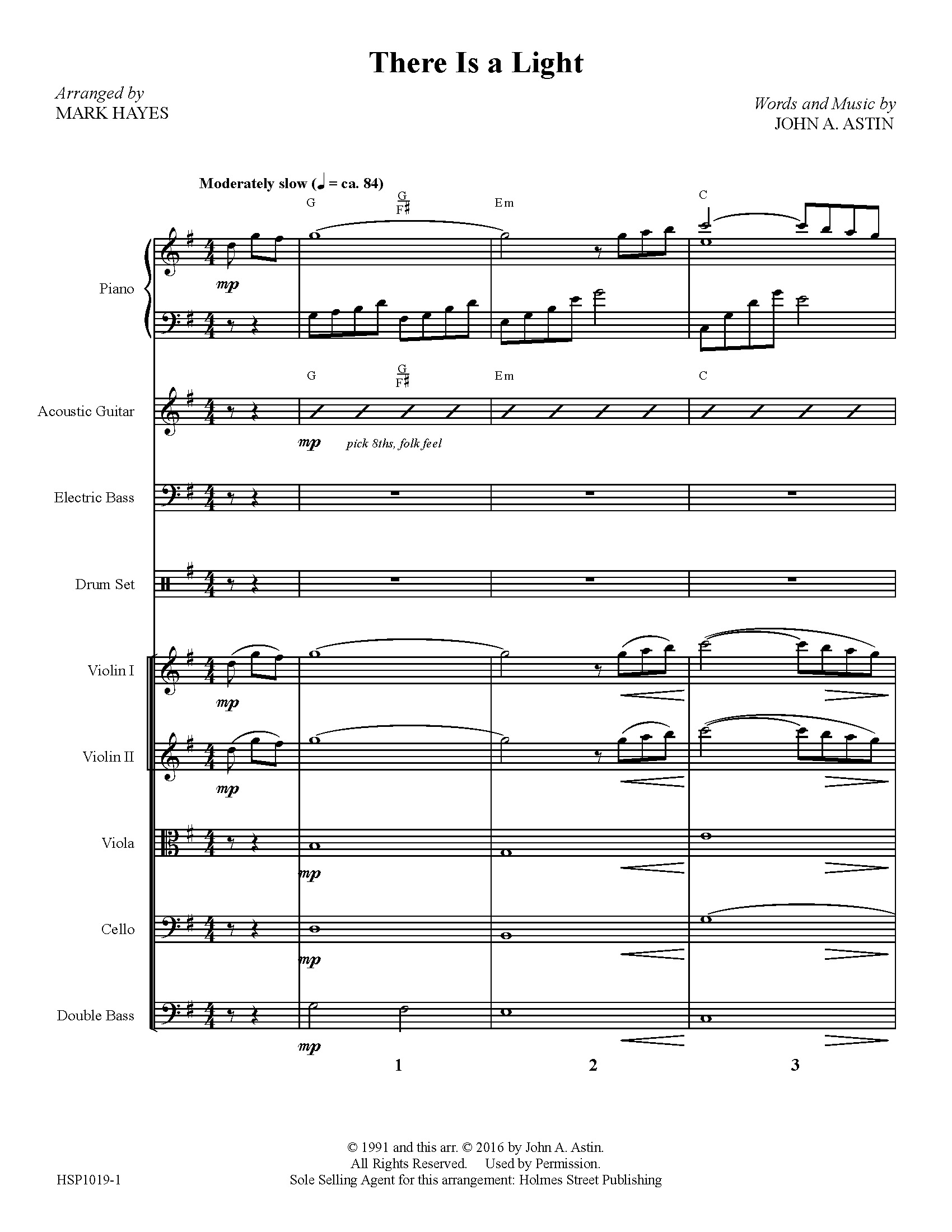 There Is a Light - Instrumental Score and Parts