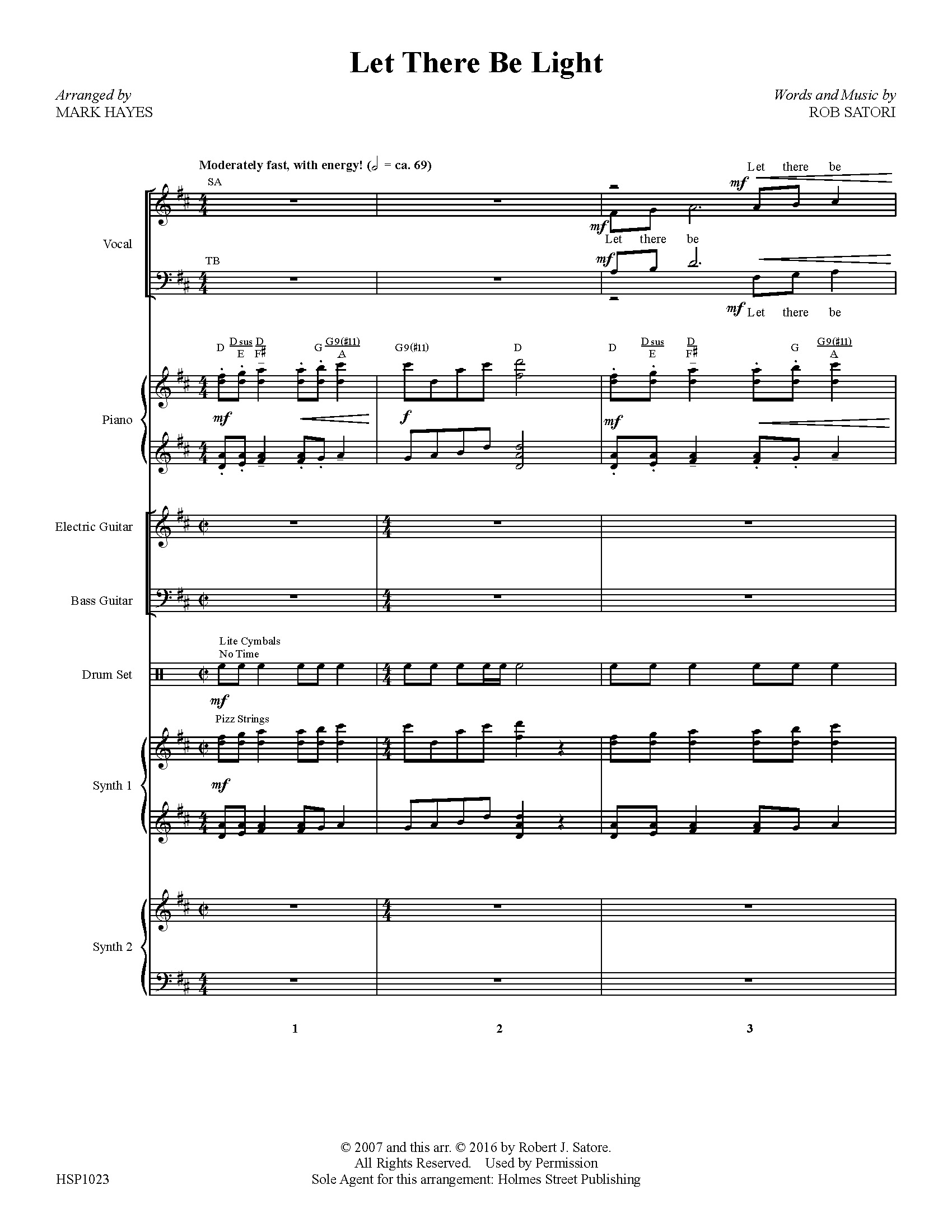 Let There Be Light - Instrumental Score and Parts