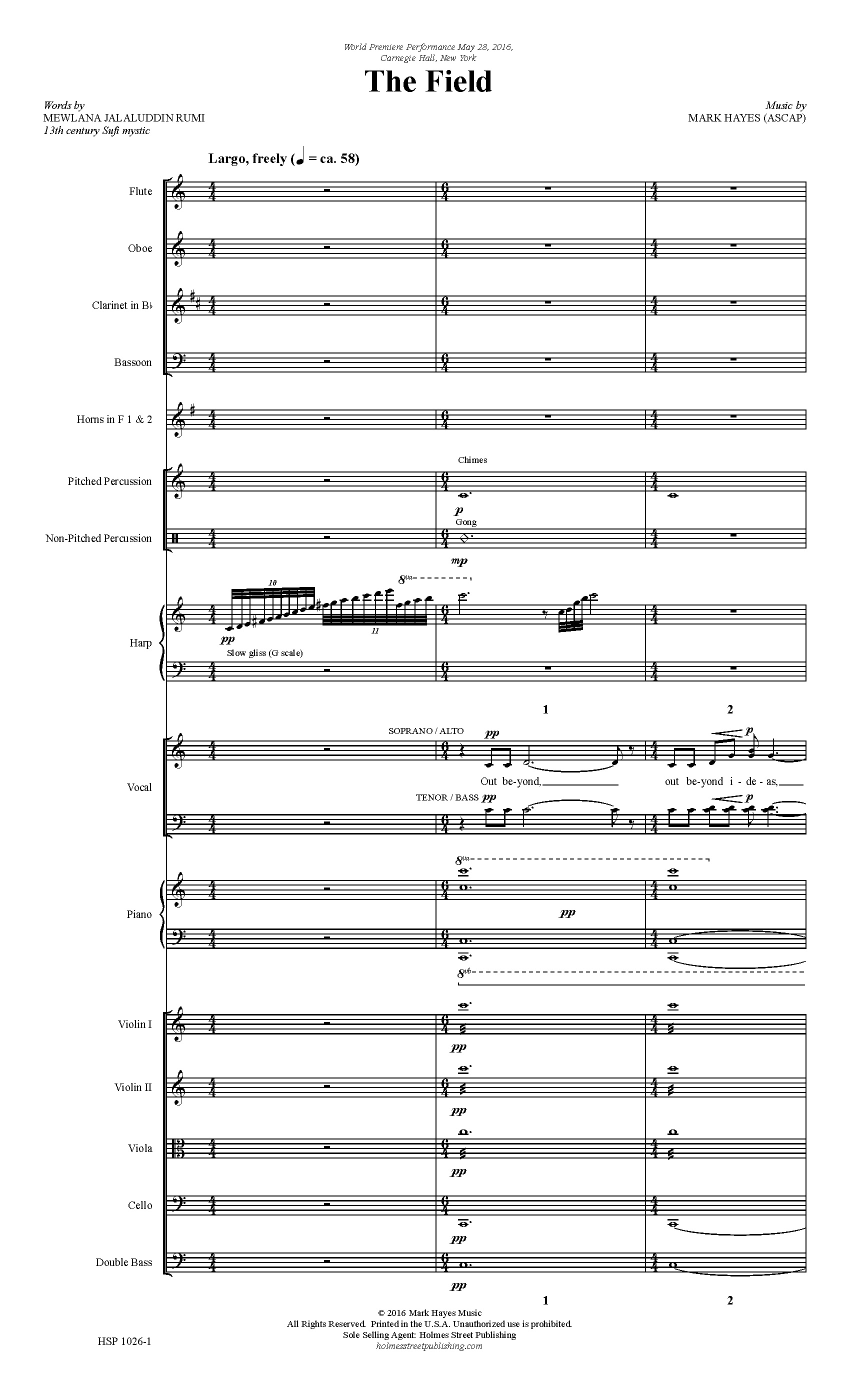The Field - Instrumental Score and Parts