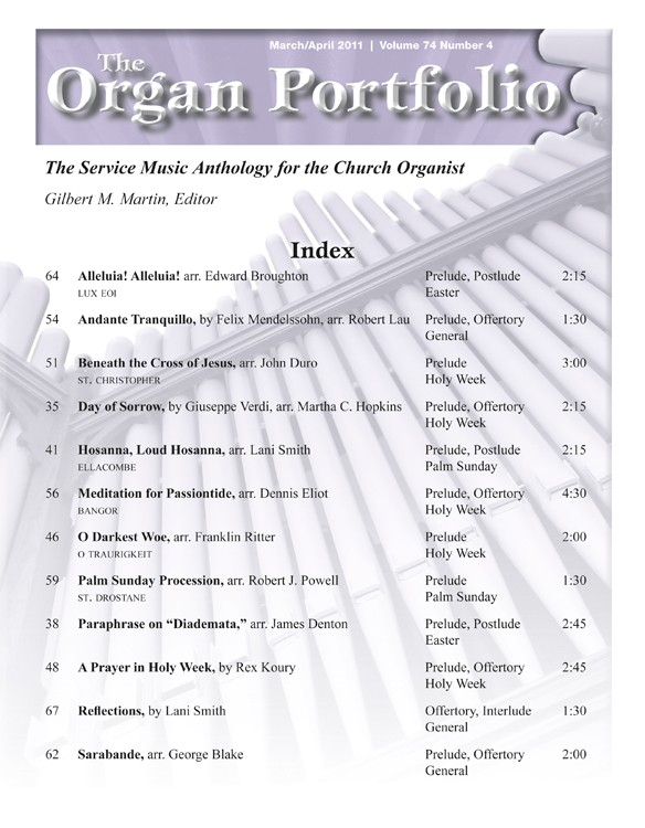 Organ Portfolio Mar/Apr 2011